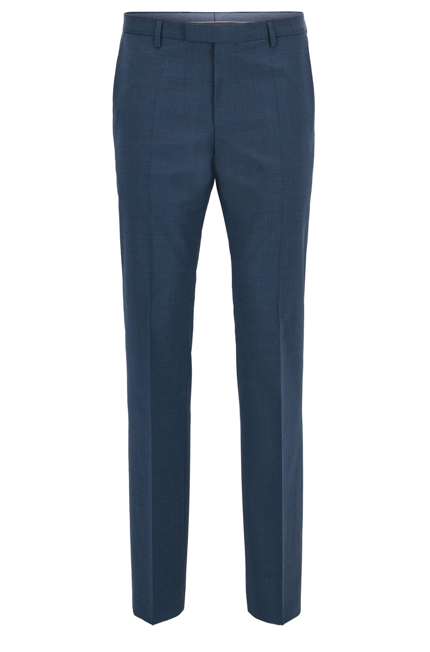 Virgin Wool Cashmere Dress Pant, Regular Fit | Leenon