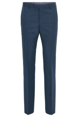 Virgin Wool Cashmere Dress Pant, Regular Fit | Leenon, Light Blue