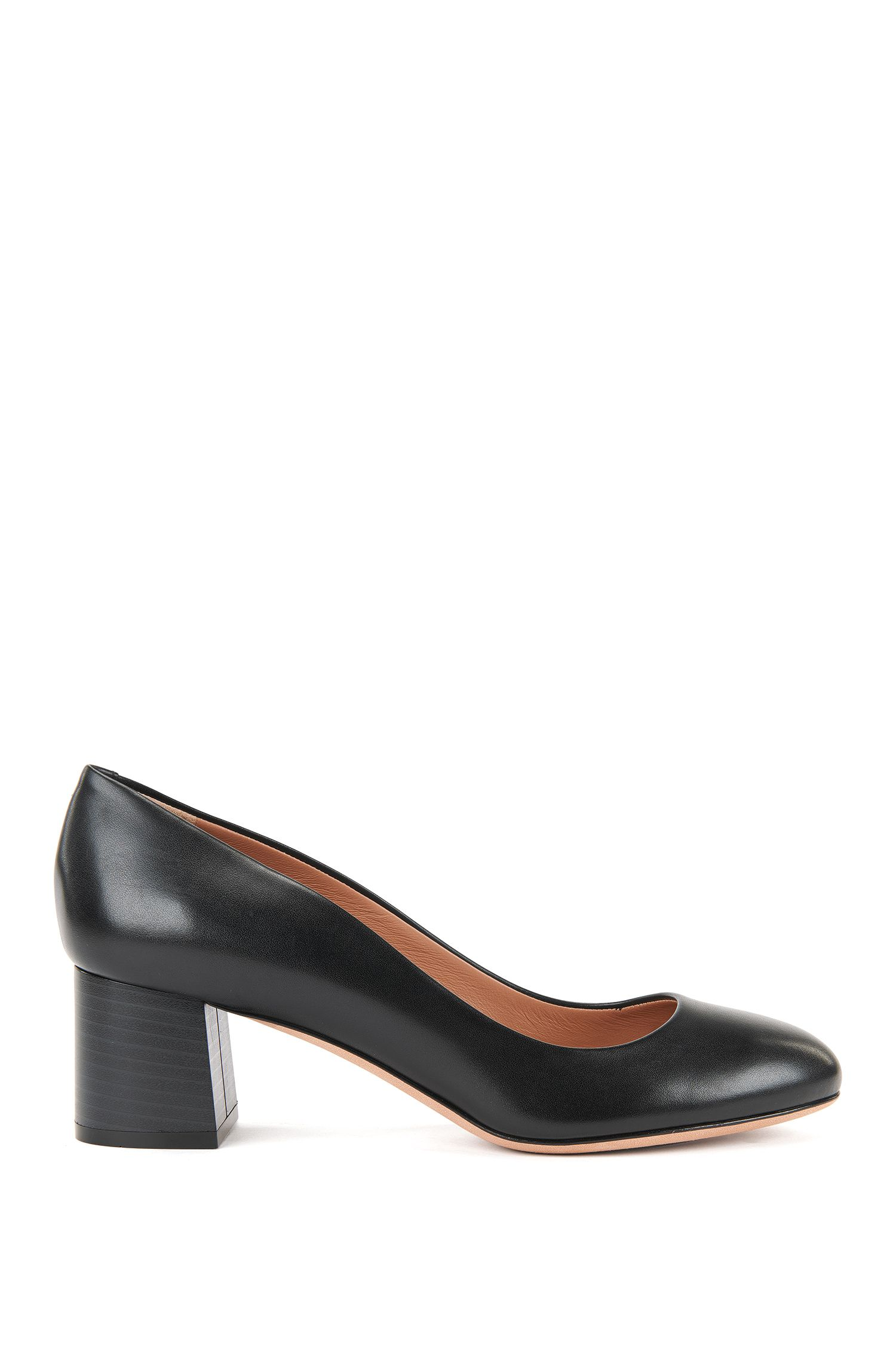 Leather Low-Heel Pump | Farah