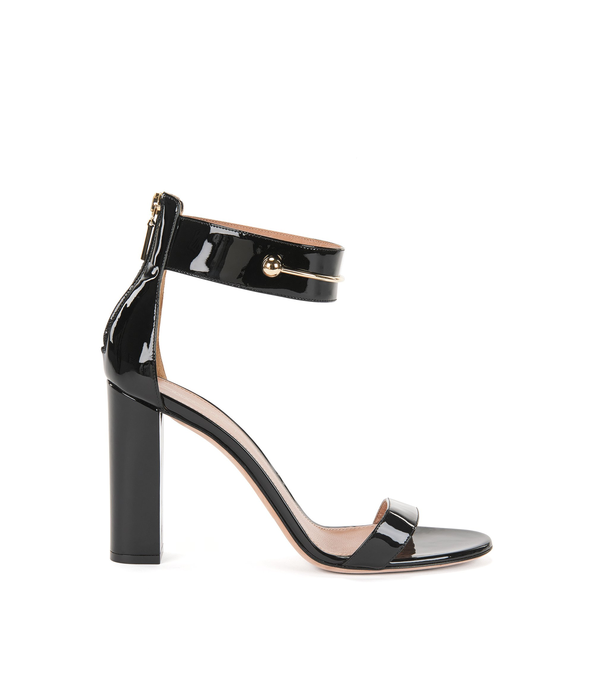 Patent Leather Sandal | Lily Sandal, Black