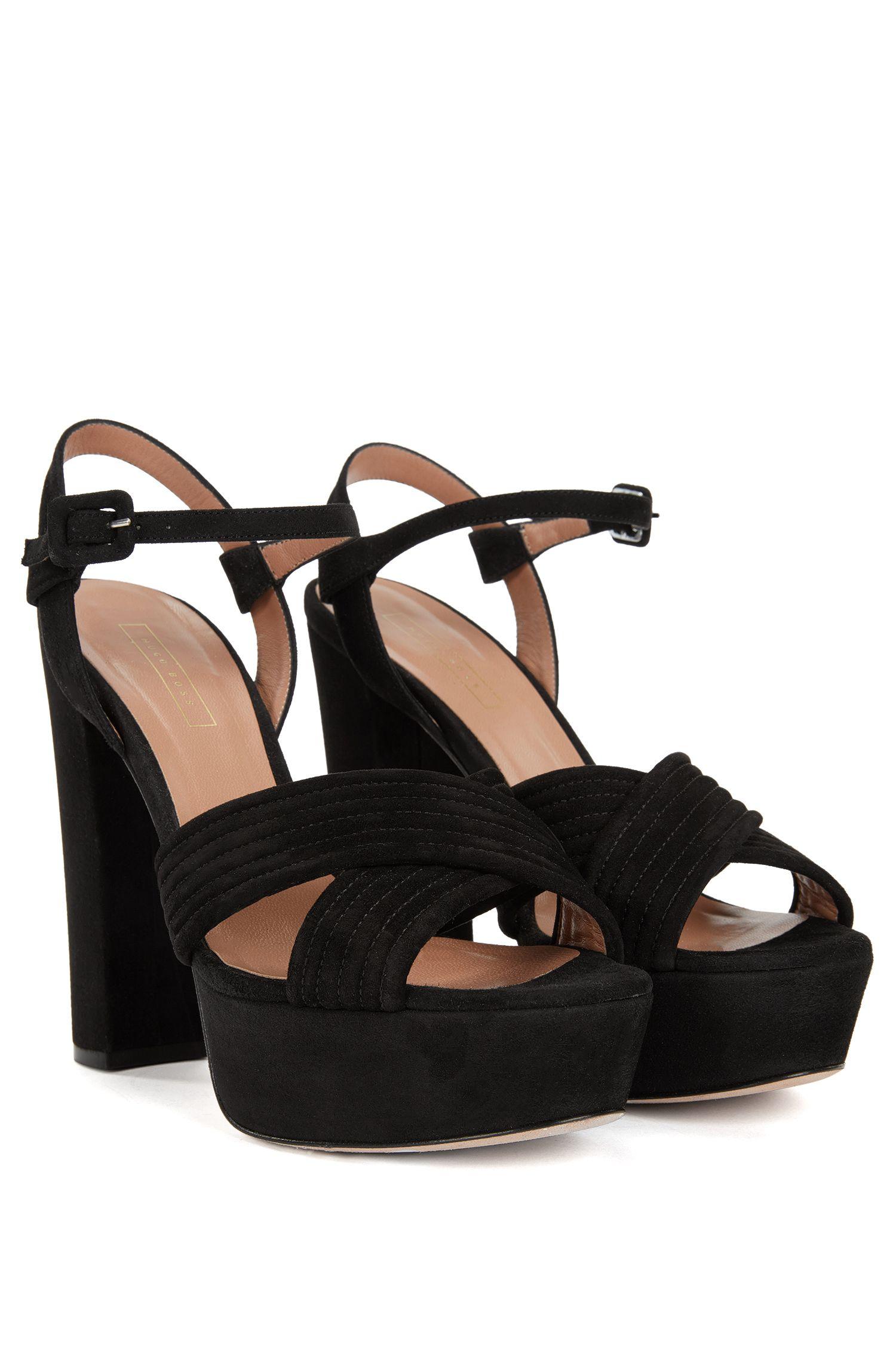 Suede Platform Sandal | Scarlett Platform S, Black