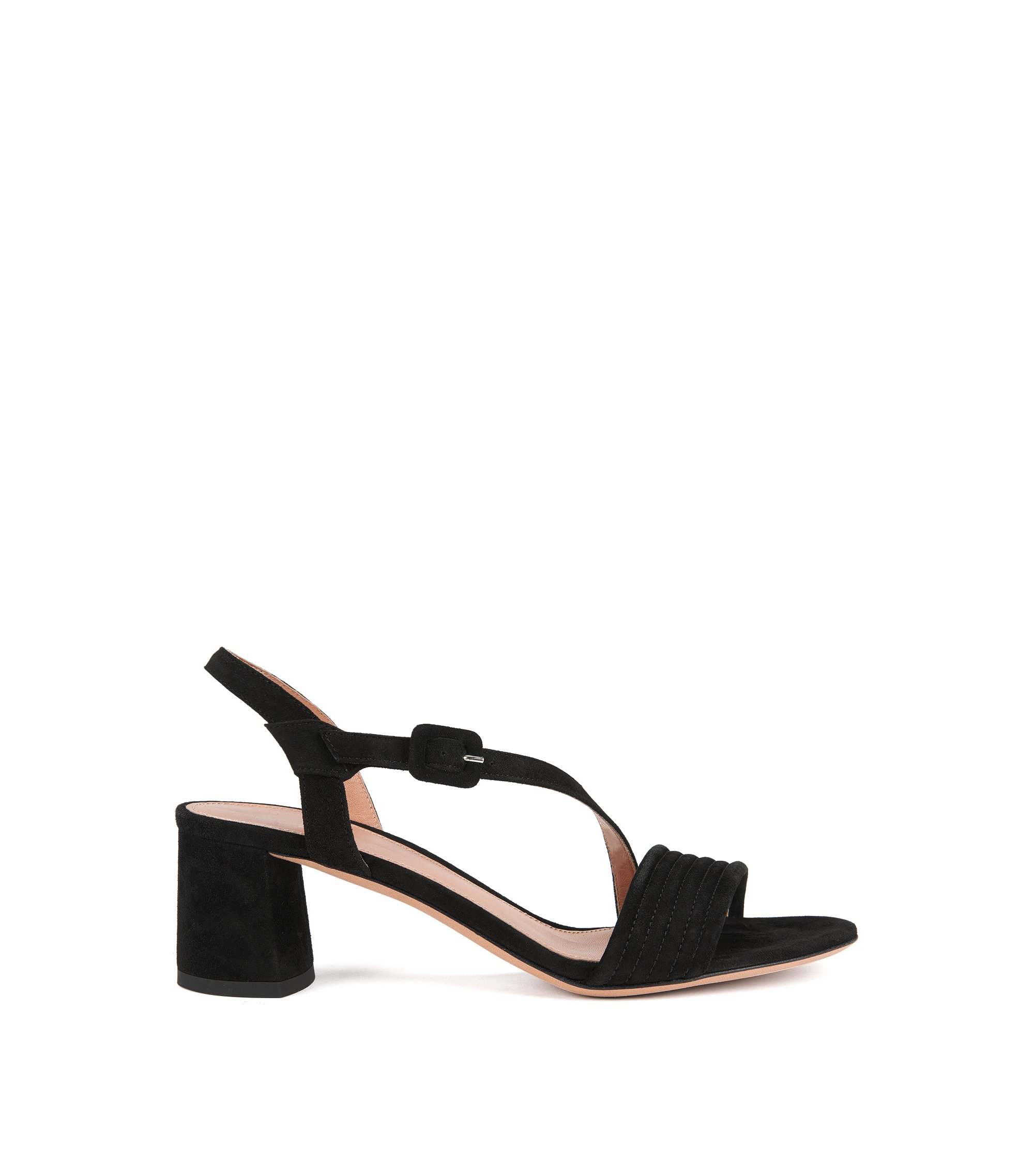 Suede Sandal | Scarlett Sandal S, Black