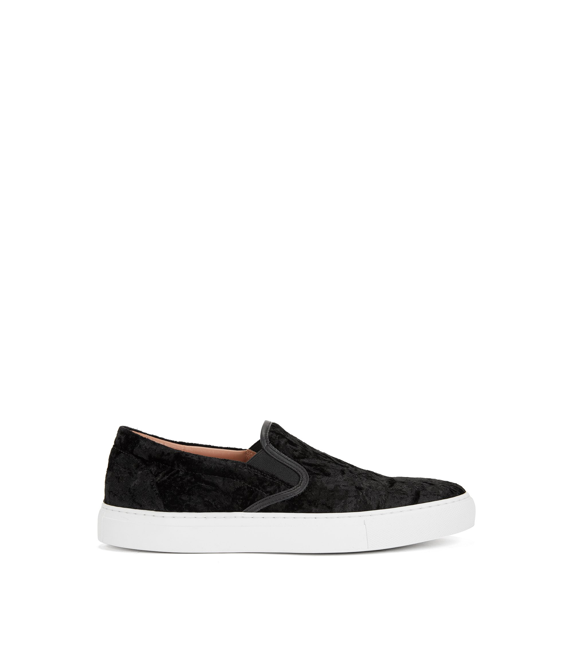 Velvet Slip-On Sneaker | Kate Slip On VL, Black