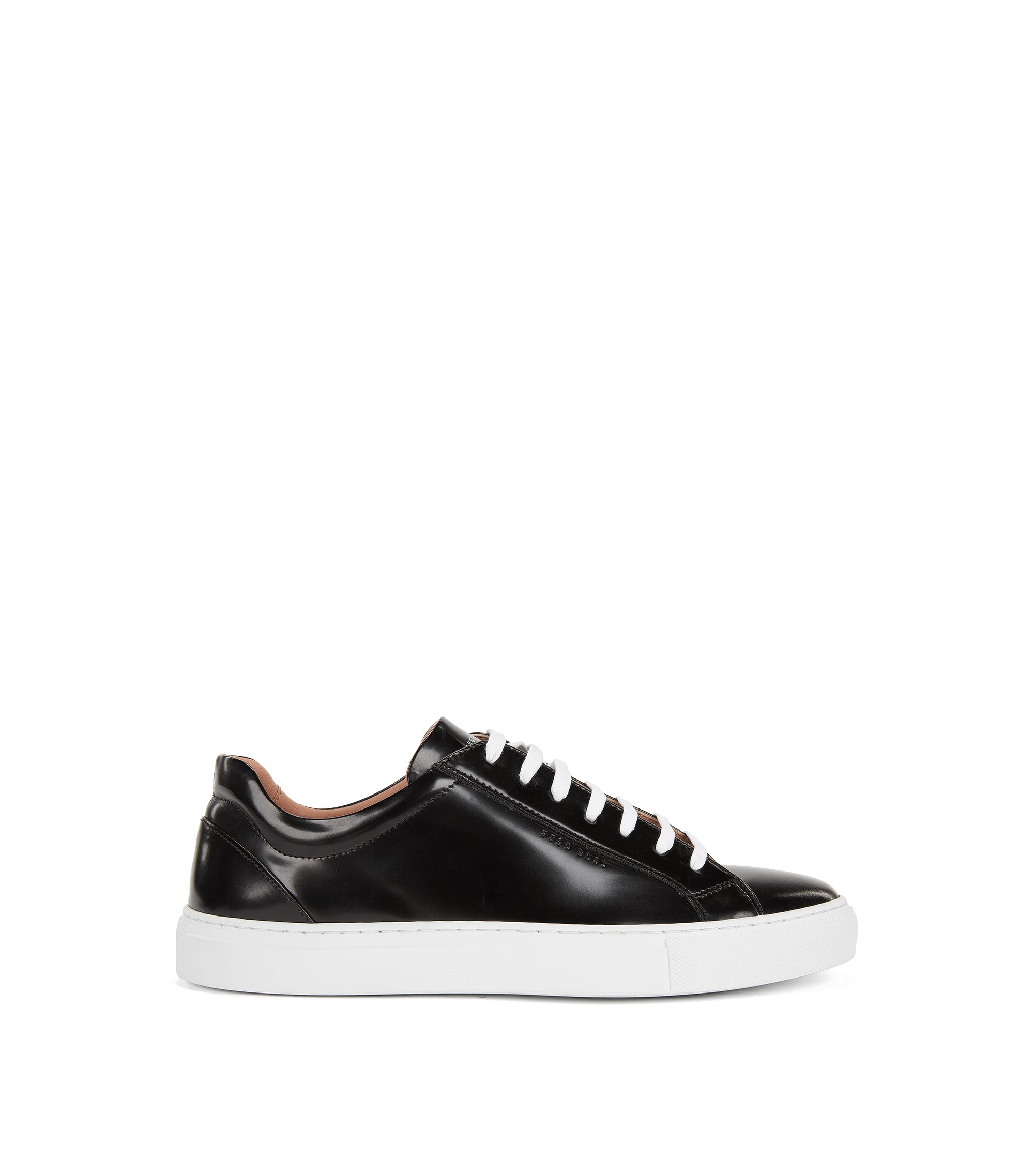 Leather Sneaker | Kate Low Cut C, Black