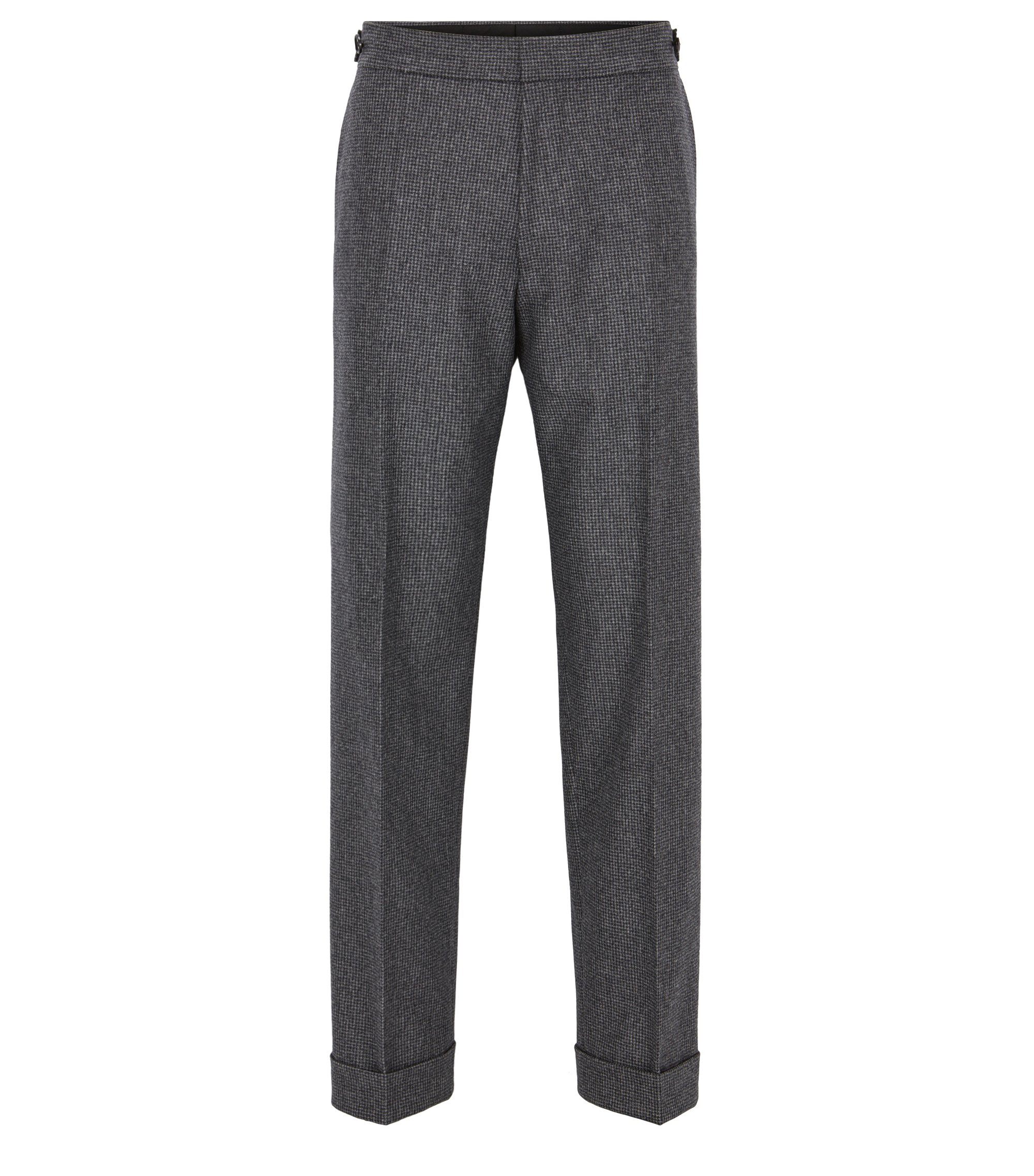 Virgin Wool Dress Pants, Charcoal