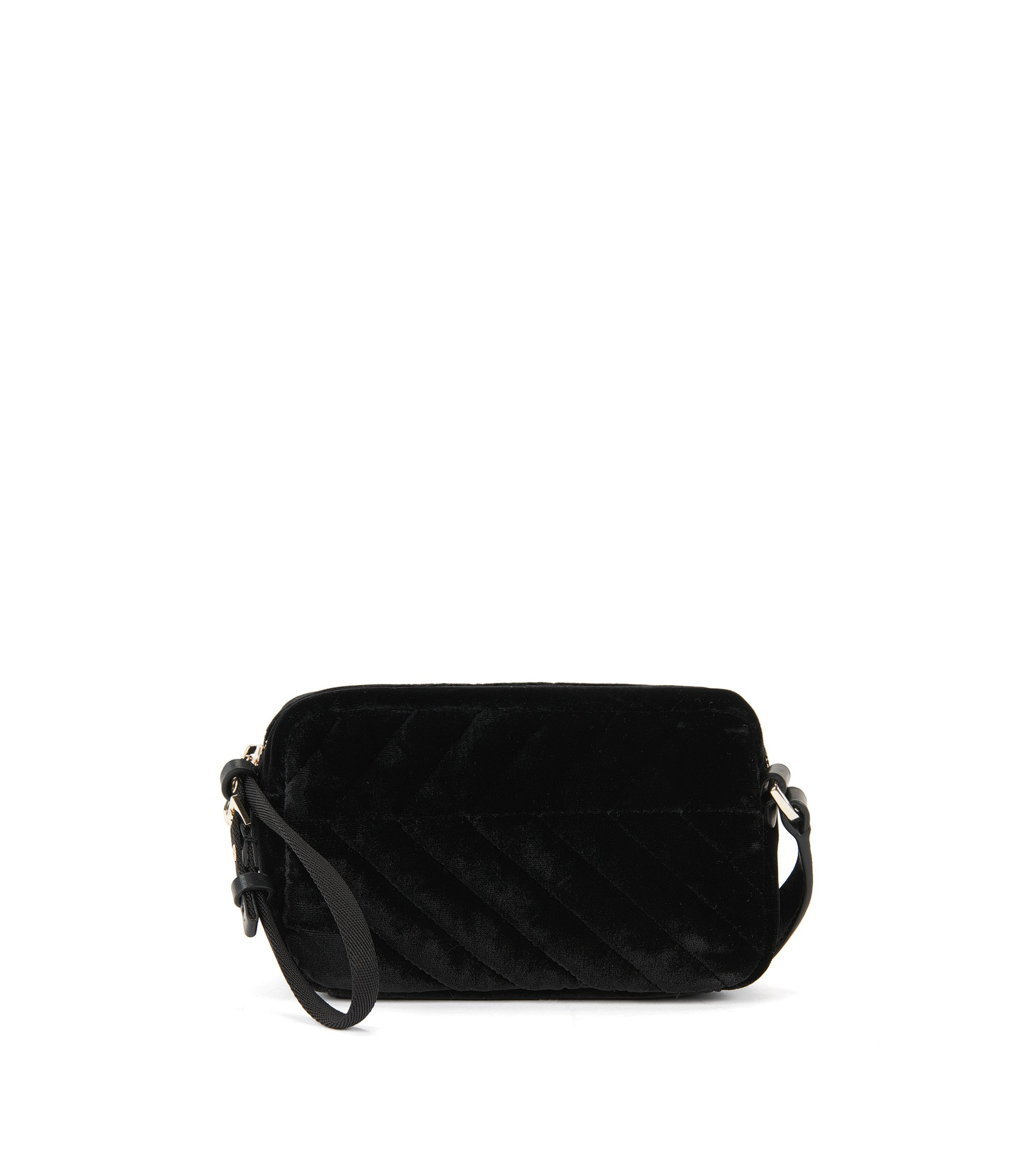 Italian Velvet Crossbody | Greta Cross Body VL, Black