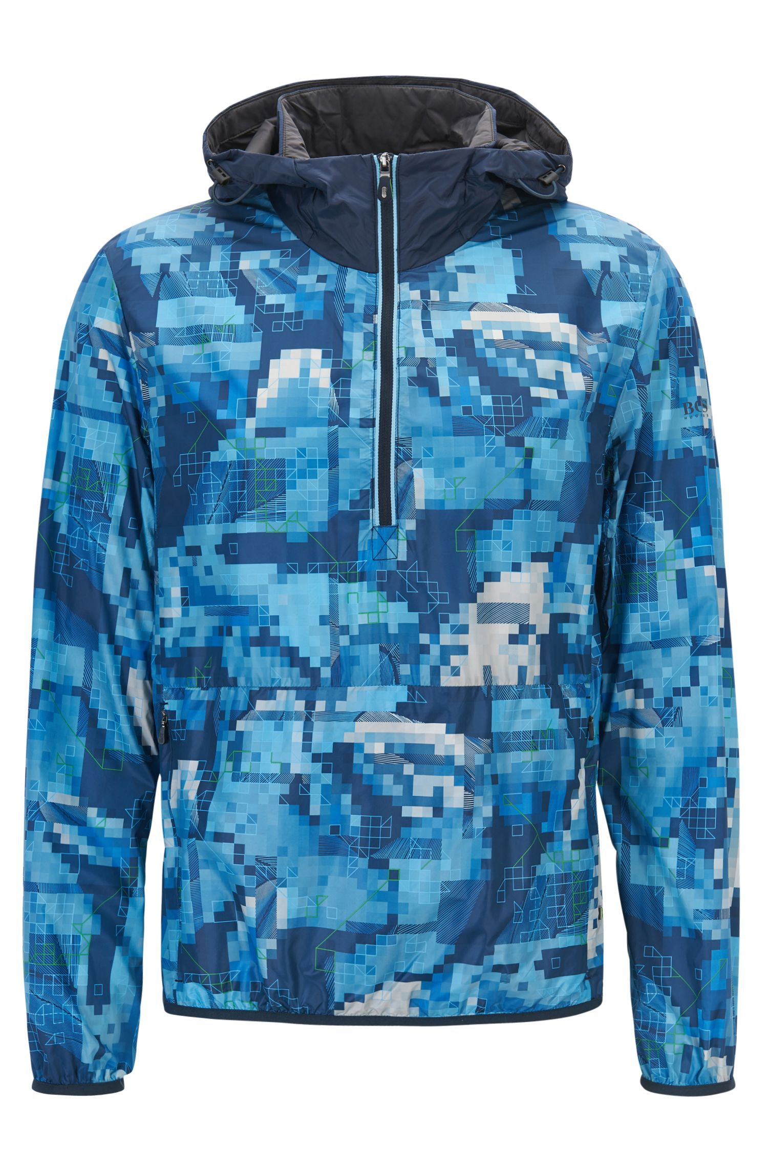 Feather Digi-Camo Print Jacket | Jepico, Dark Blue