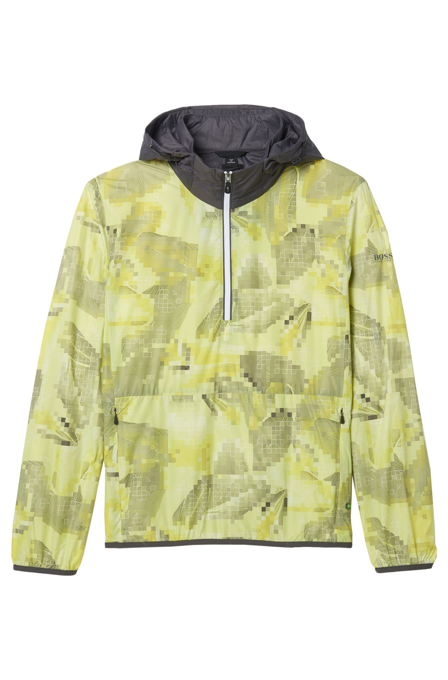 Feather Digi-Camo Print Jacket | Jepico, Yellow