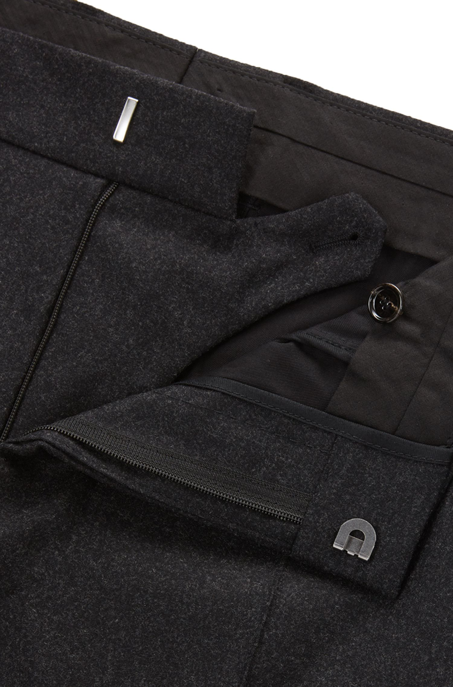 Stretch Virgin Wool-Cashmere Dress Pant | Point