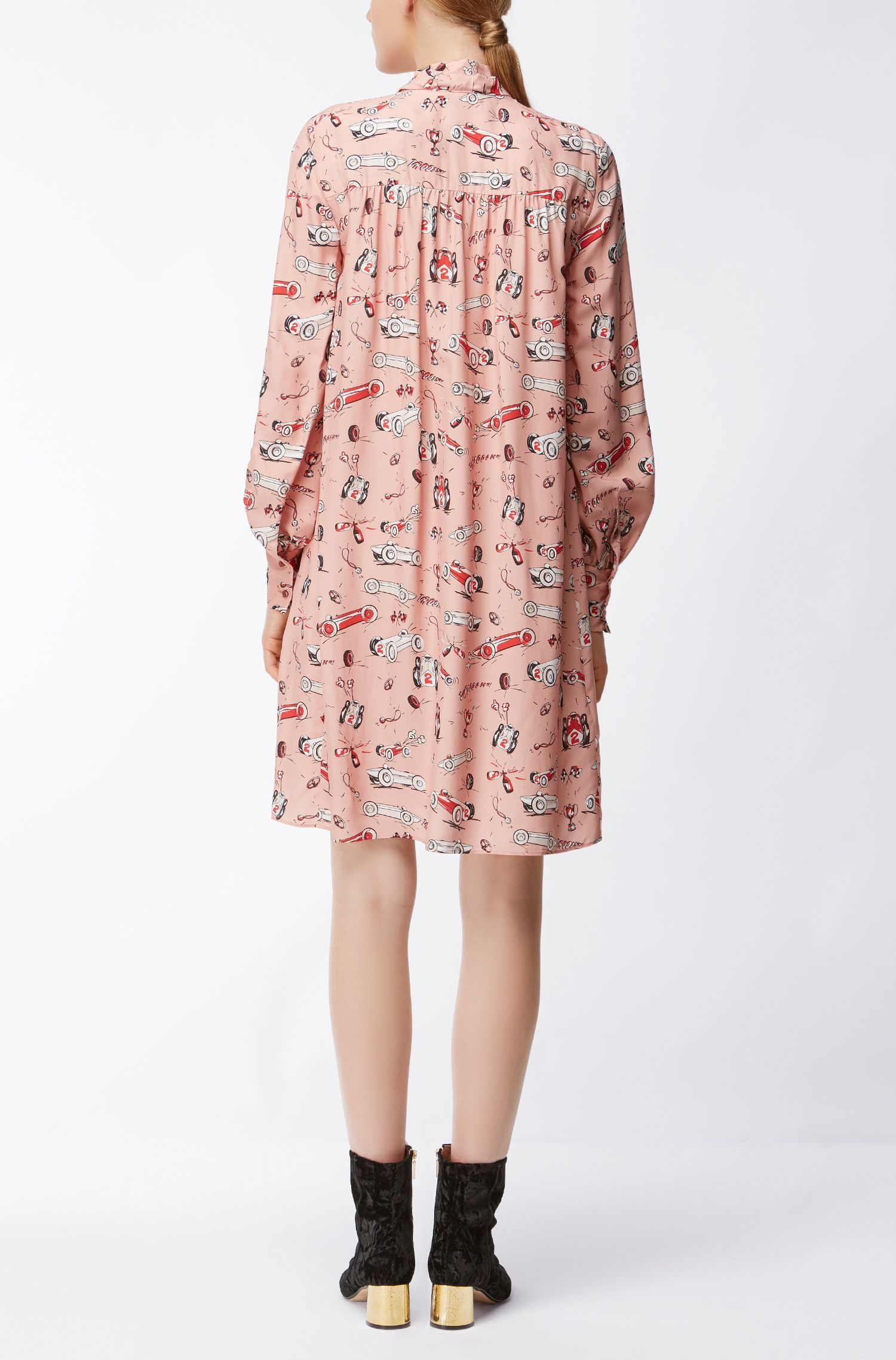 Race Car Viscose Shirtdress | Dowidana, Patterned