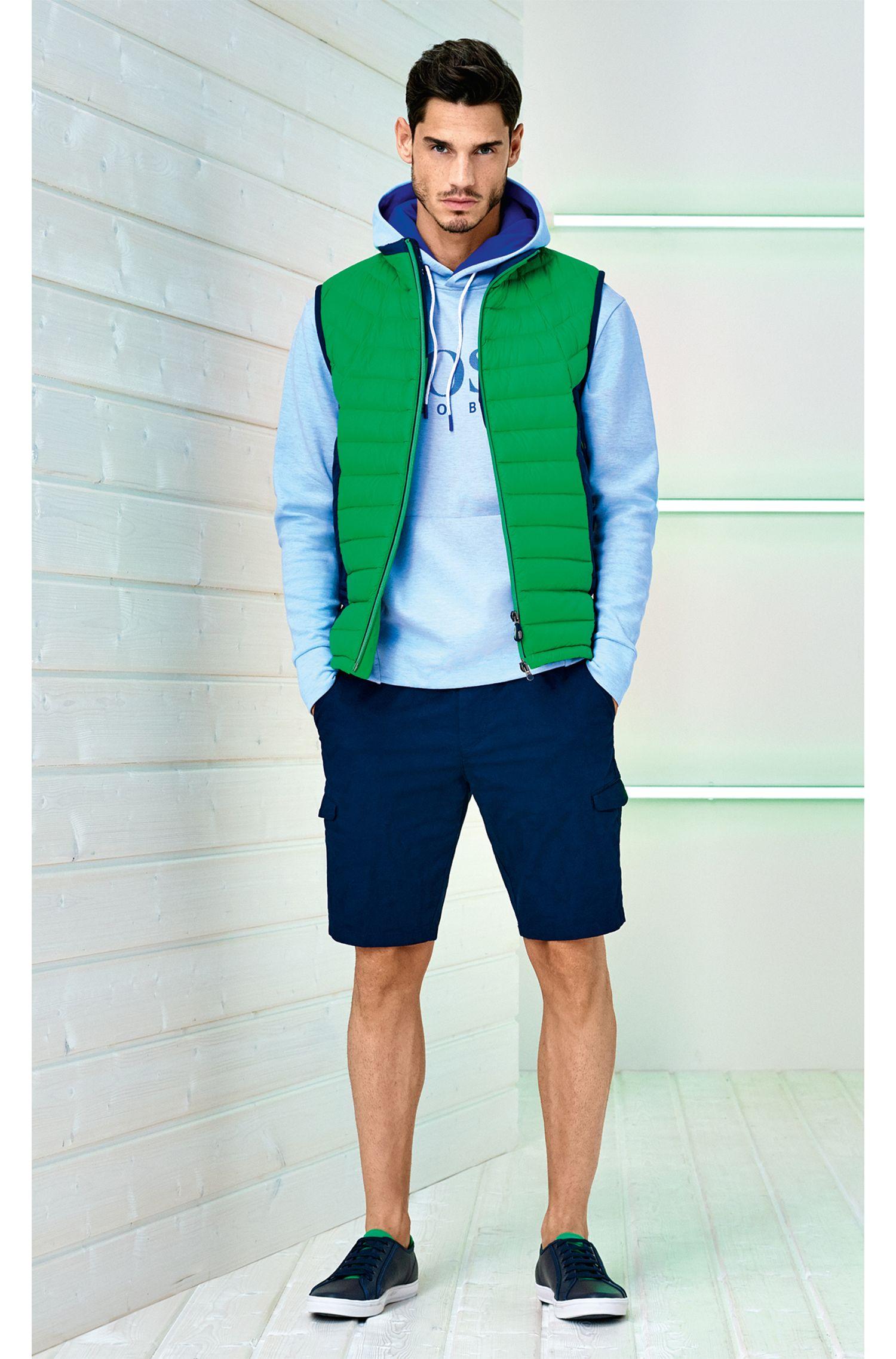 Colorblocked Nylon Down Vest | Vestone, Green
