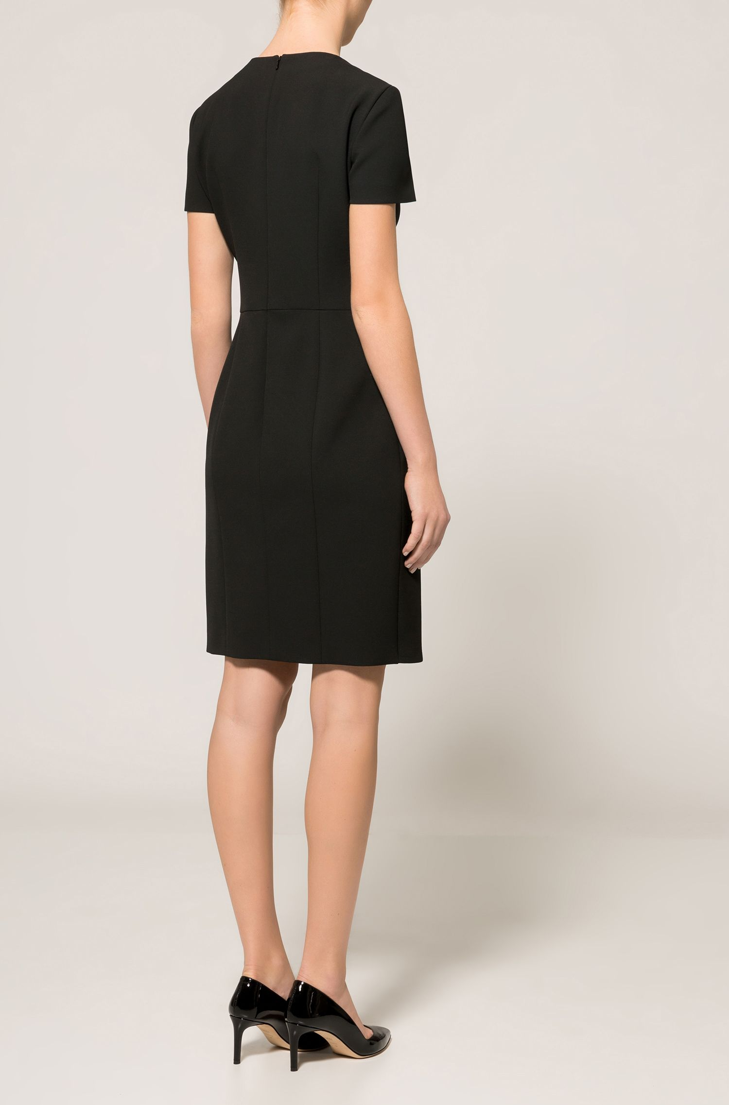 Ruffle-Front V-Neck Dress | Kibelli