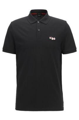 Piqué Pima Cotton Polo Shirt, Regular Fit   Parlay, Black