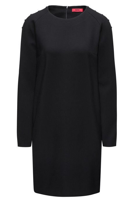 Whole World Shipping Long-sleeved dress with embellishments HUGO BOSS View Online Free Shipping Wide Range Of 5qV1cM6
