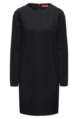 Embellished Long Sleeve Dress | Korene , Black