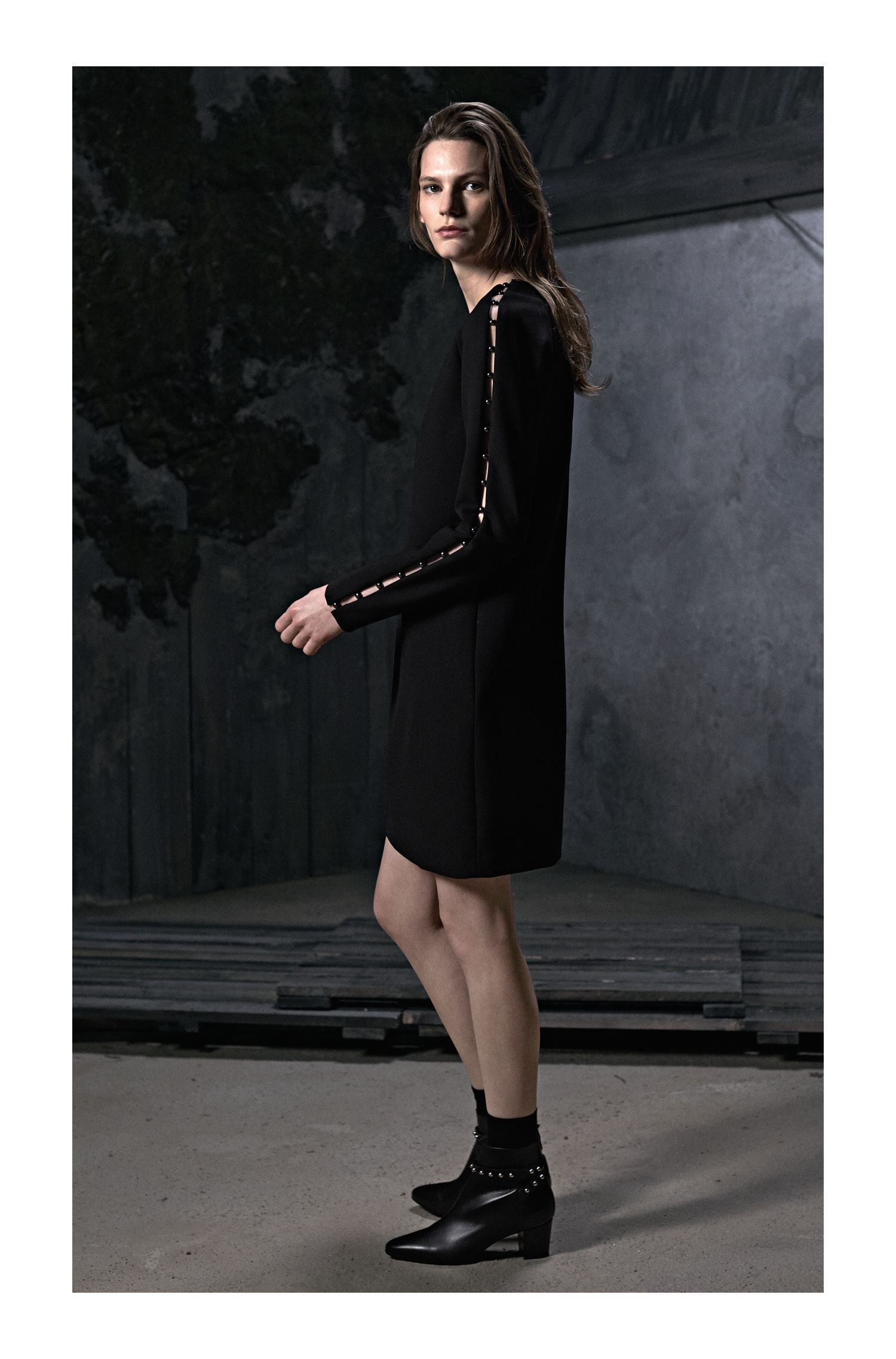 Long-sleeved dress with embellishments HUGO BOSS