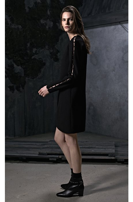 Amazon New For Sale Long-sleeved dress with embellishments HUGO BOSS 2018 New Purchase Sale L9QNR