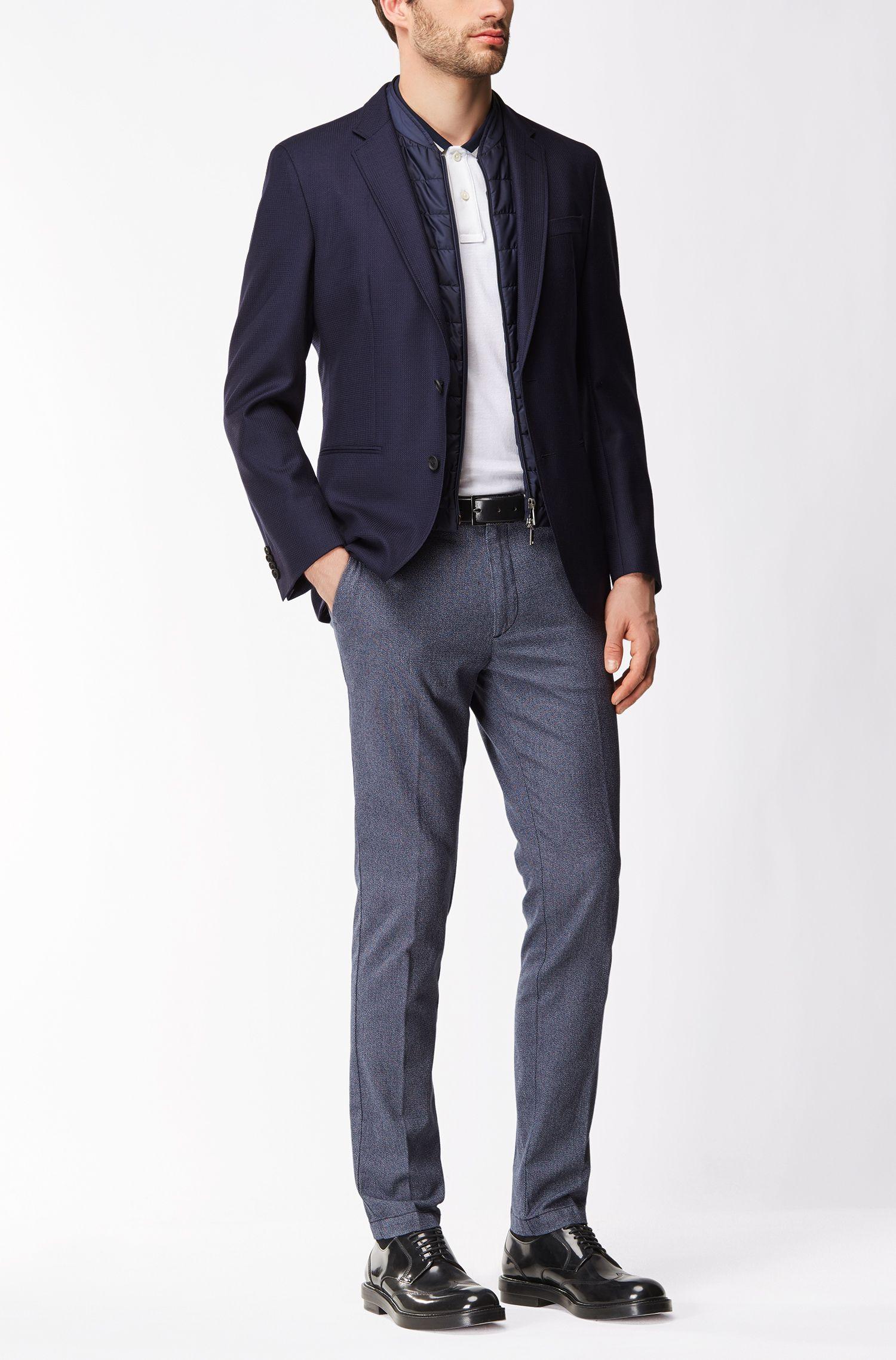 Birdseye Cotton Pant, Slim Fit | Kaito W, Dark Blue
