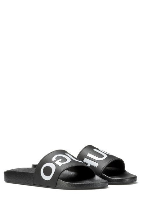 HUGO BOSS Hugo Boss Reverse-logo pool slider sandals 8 Black Lowest Price Cheap Online Quality From China Cheap Shipping Discount Authentic ivPdzFcsDr