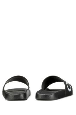 a2bdcdc8fb4c HUGO - Reverse-logo pool slider sandals
