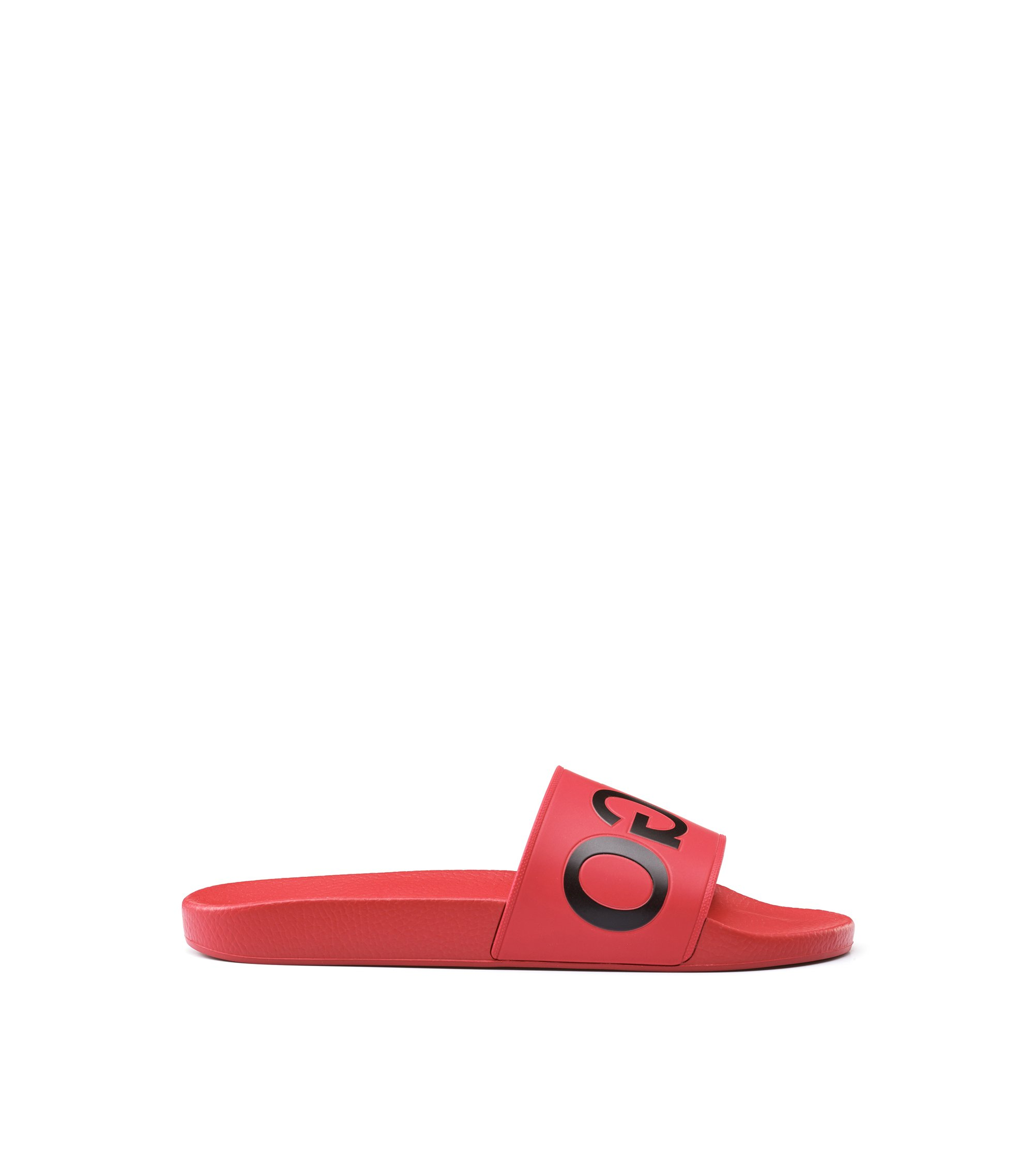 Rubber Slip-On Sandals | Timeout Slip RB, Red