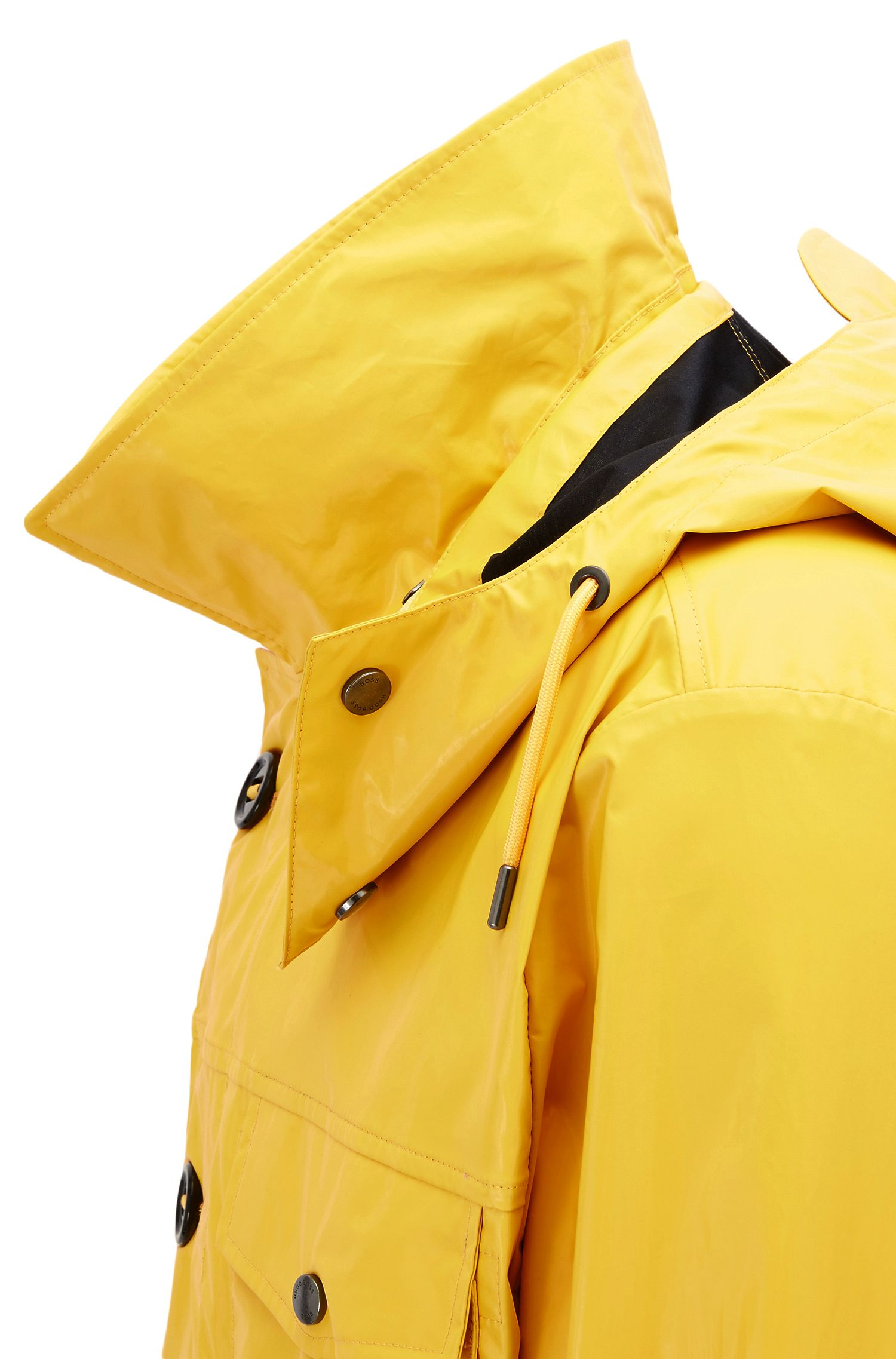 Waxed Cotton Field Jacket | Charel, Yellow