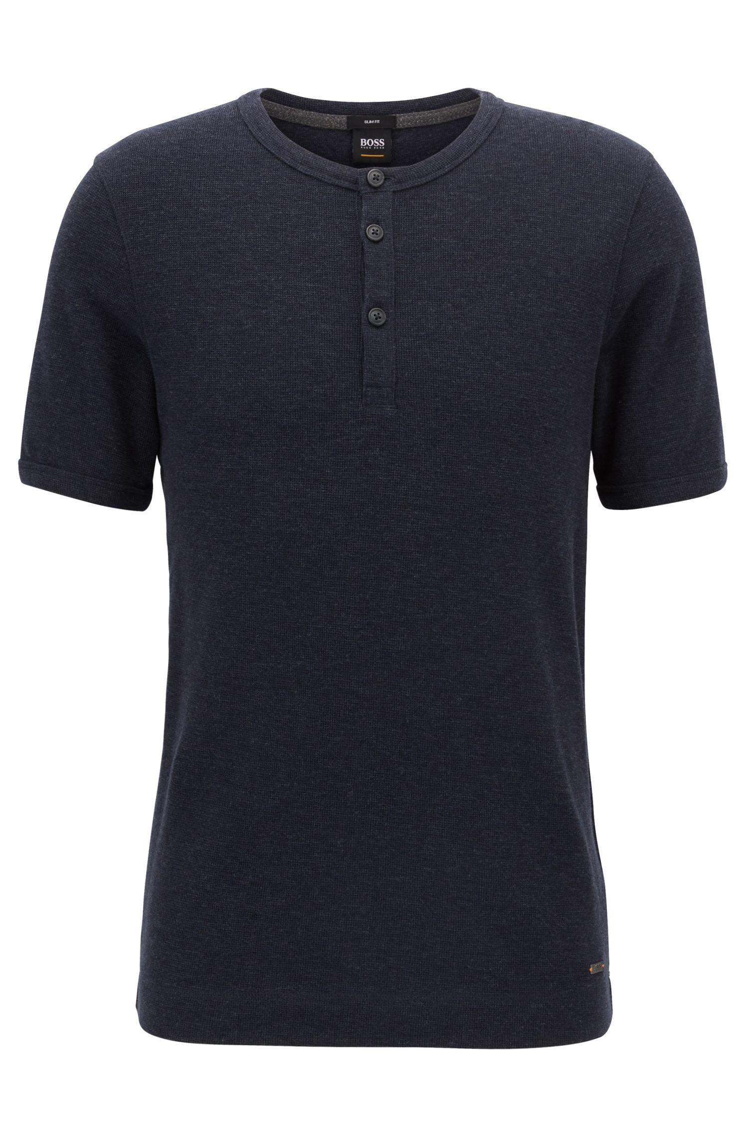 Cotton Henley T-Shirt | Trixer, Dark Blue