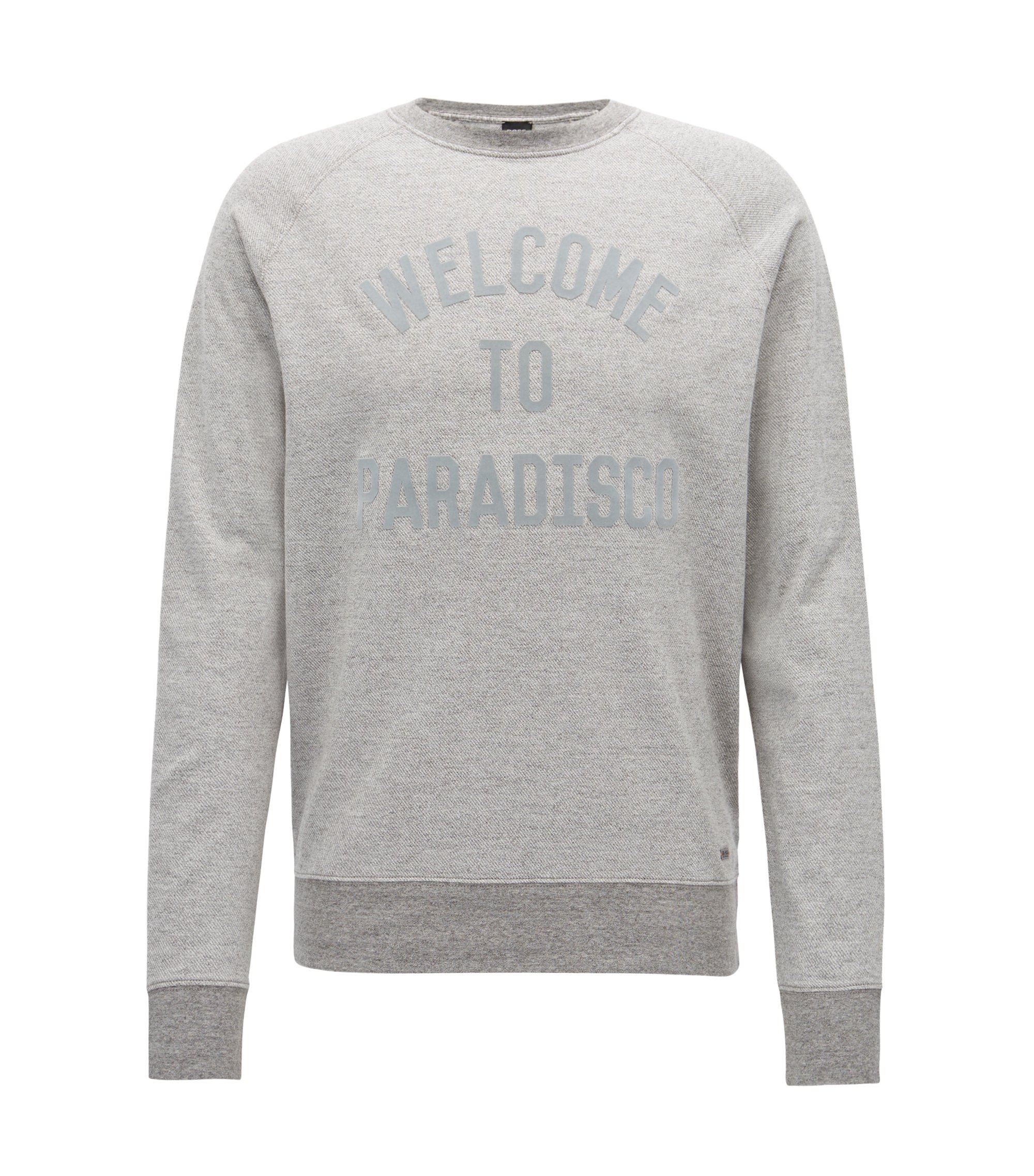 Appliqué Cotton Sweatshirt | Wildlife, Light Grey
