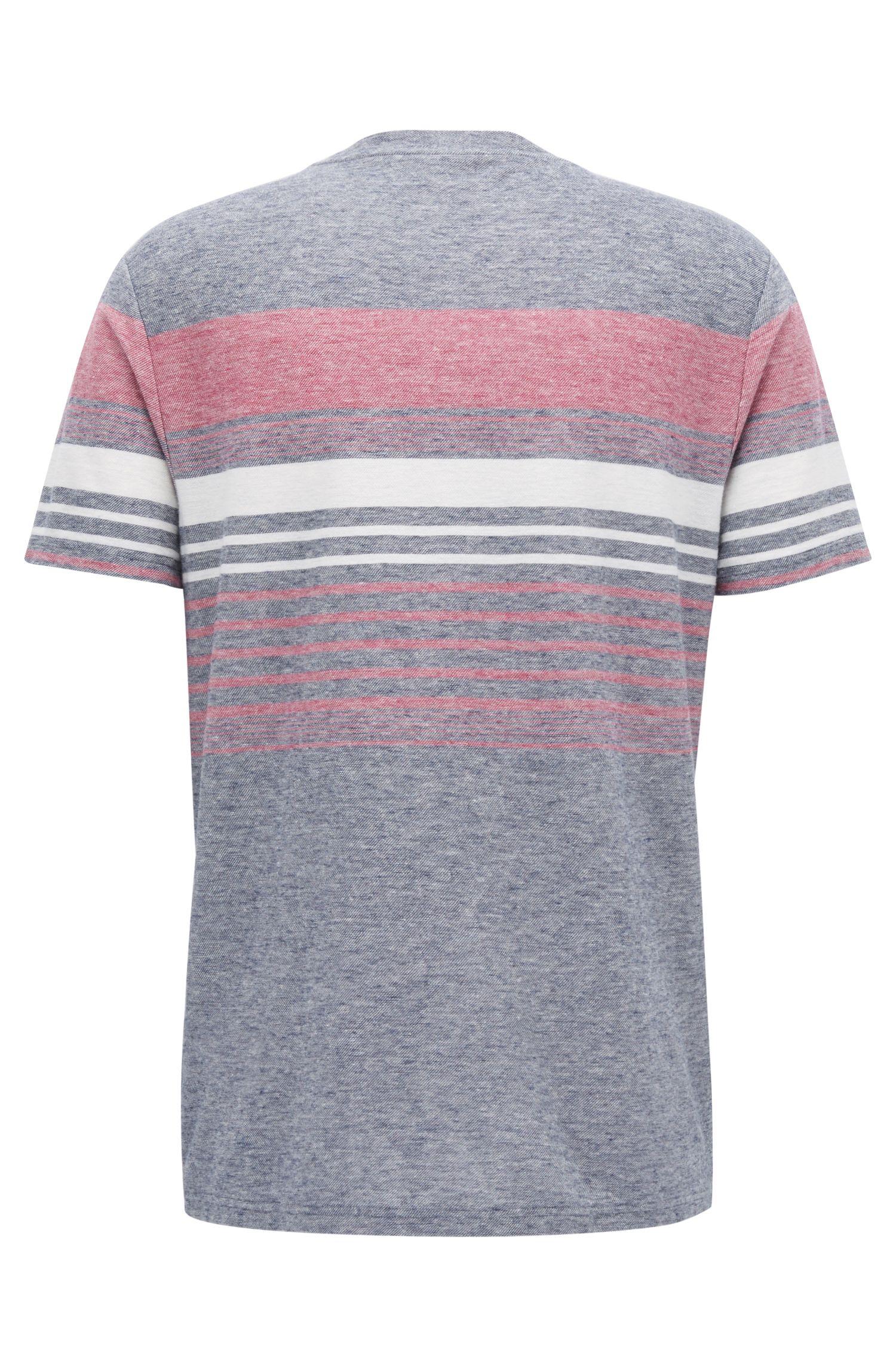 Cotton Linen T-Shirt | Tilak, Dark Blue