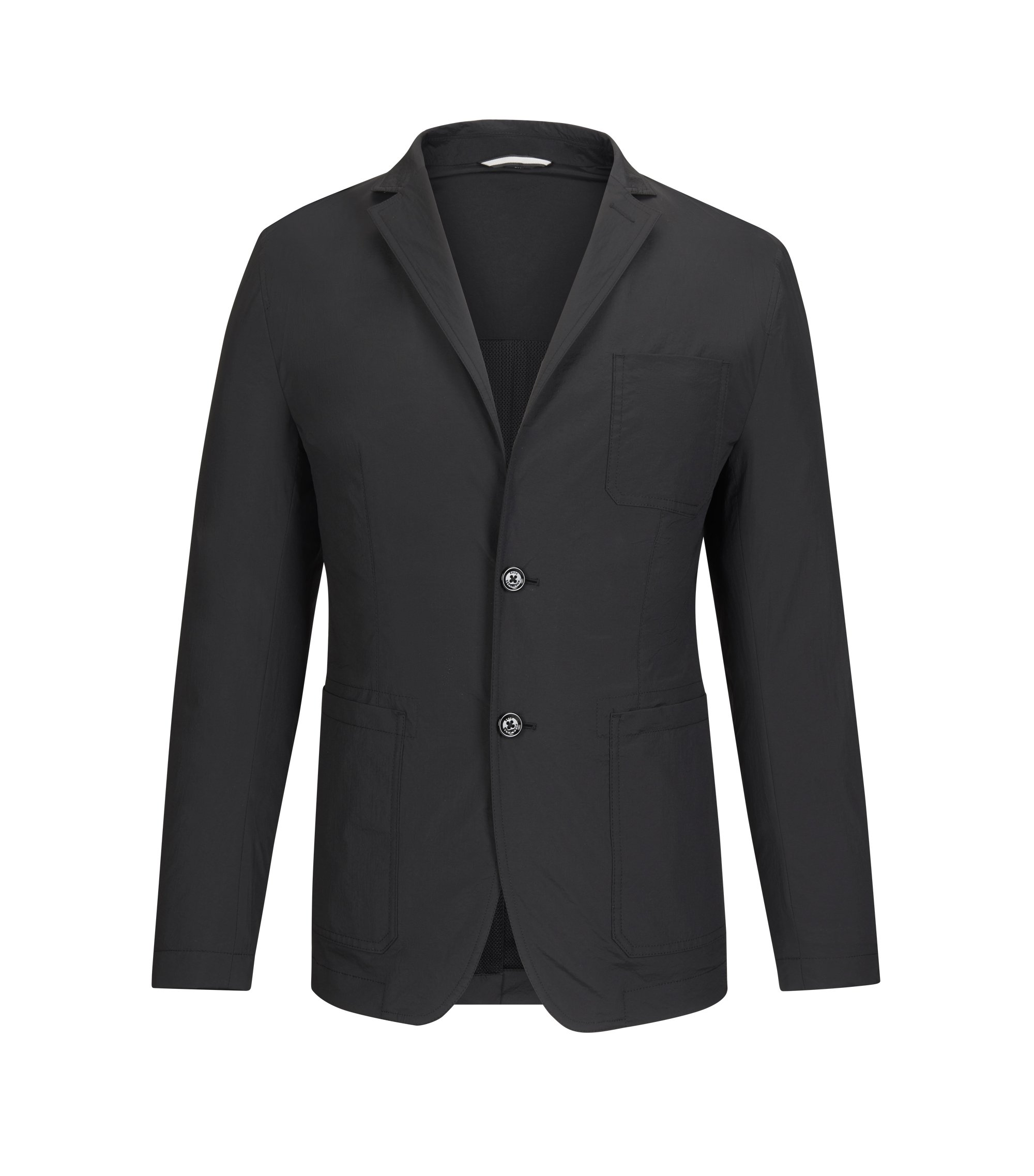 Nylon Sport Coat, Slim Fit | Noas, Black