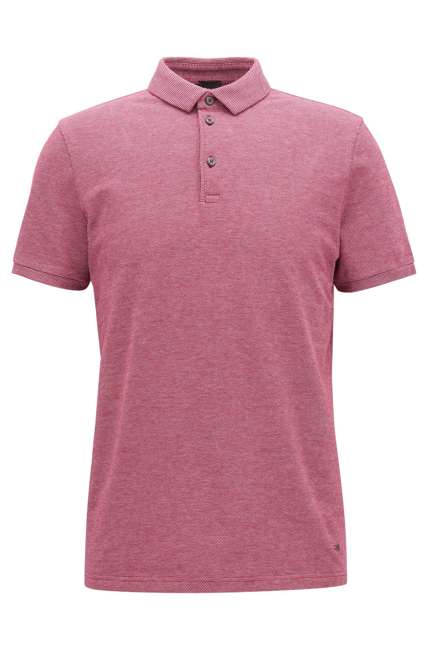 Stretch Cotton Piqué Polo Shirt, Slim Fit | Proses, Dark Purple