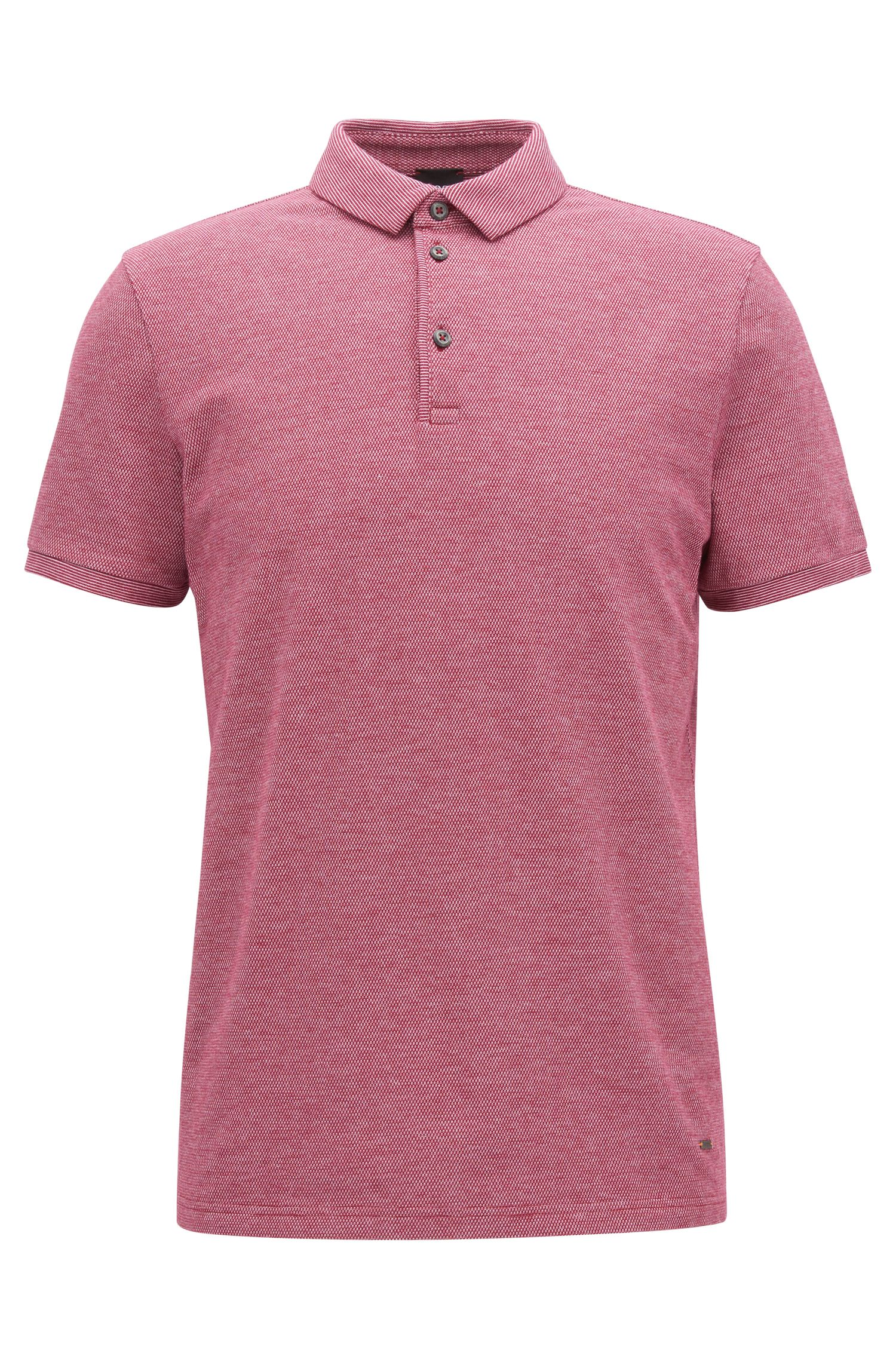 Stretch Cotton Piqué Polo Shirt, Slim Fit | Proses