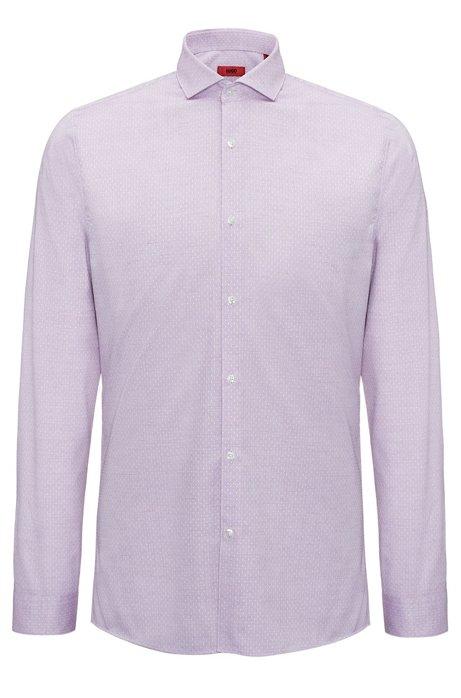 Hugo patterned dress shirt extra slim fit erriko for Extra slim tuxedo shirt