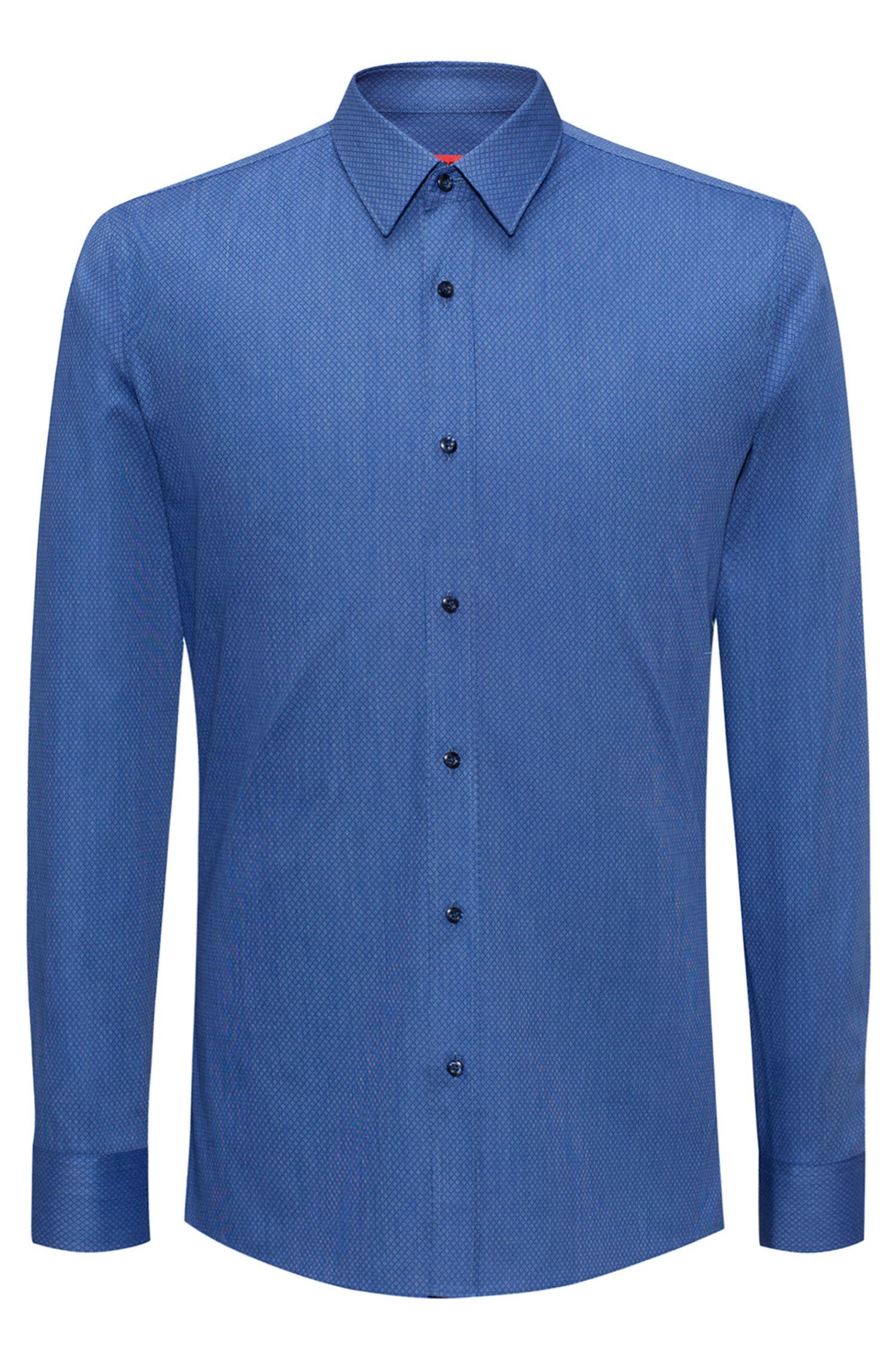Stretch Cotton Blend Dress Shirt, Extra Slim Fit   Elisha