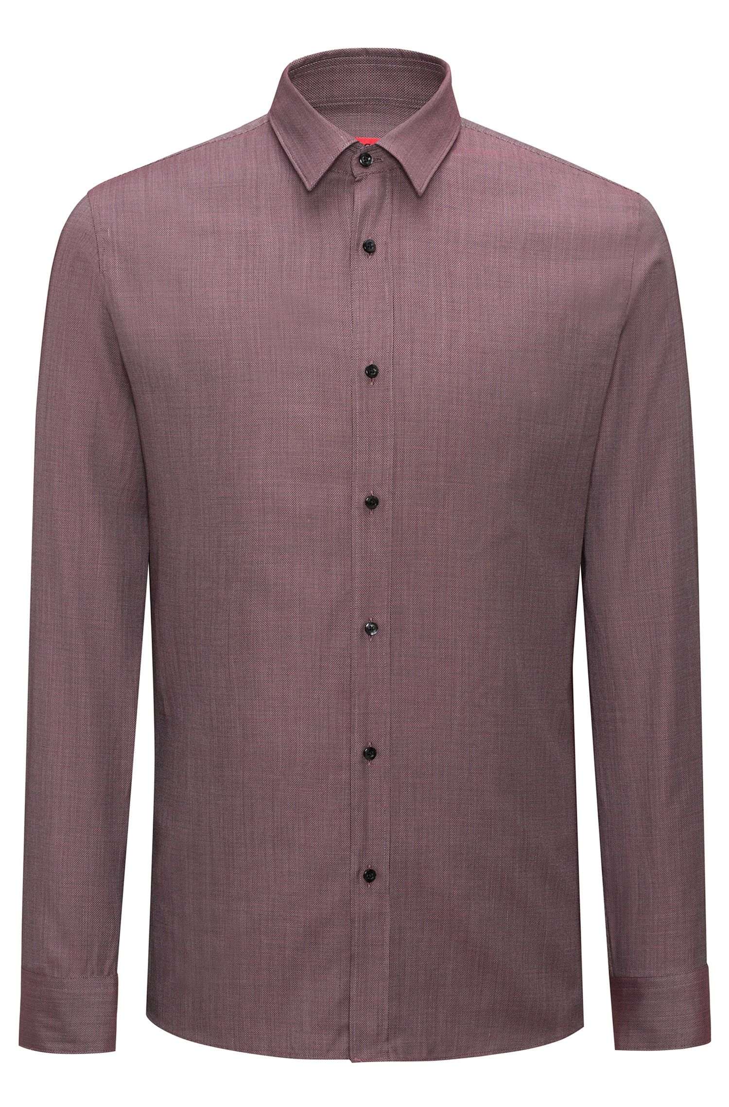 Cotton-Silk Sport Shirt, Extra Slim Fit | Elisha, Red