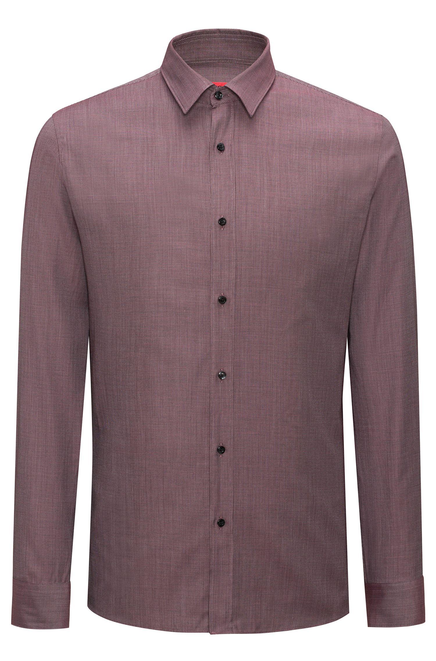 Cotton-Silk Sport Shirt, Extra Slim Fit | Elisha
