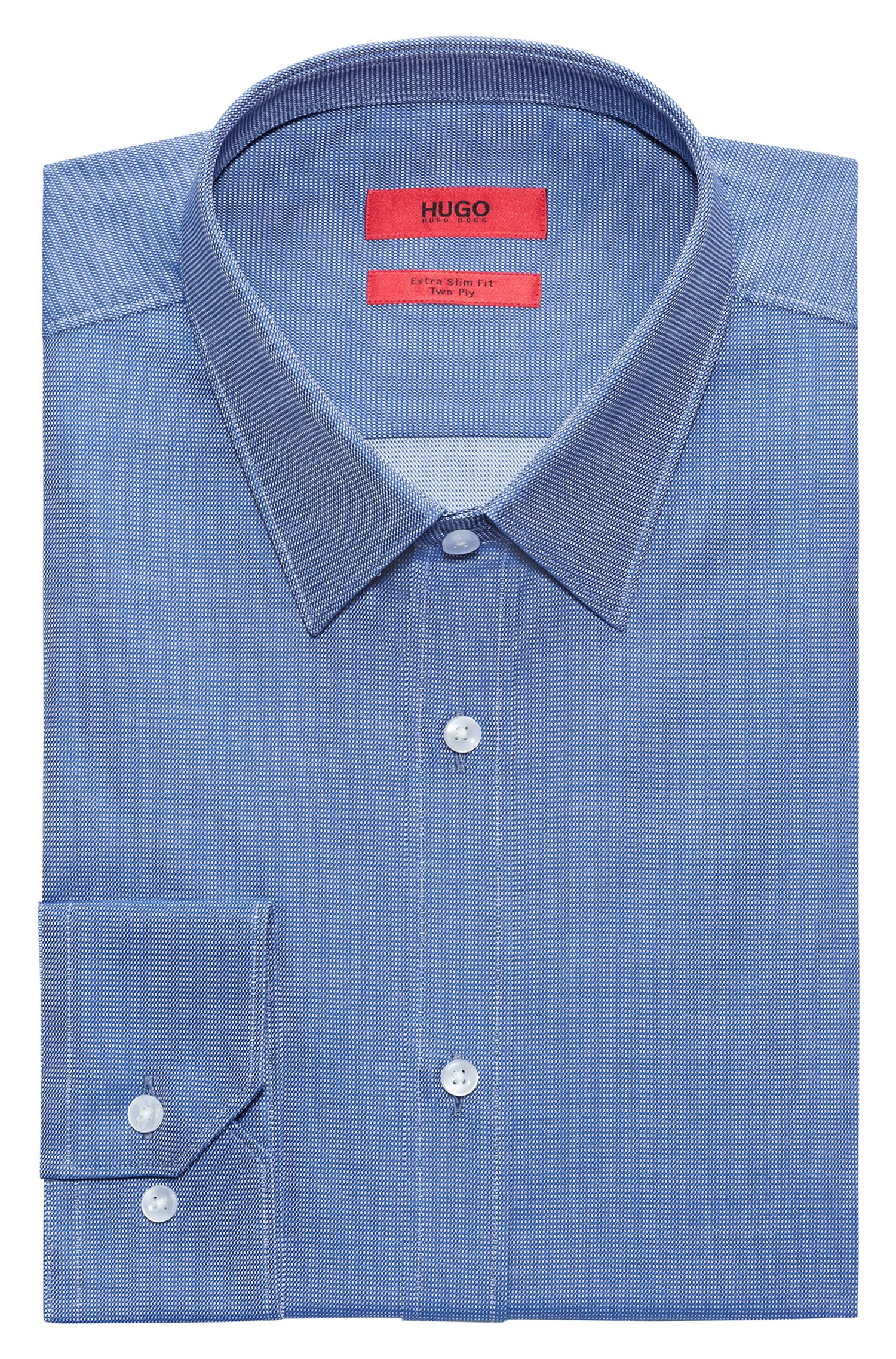 Pindot Cotton Dress Shirt, Extra Slim Fit | Elisha