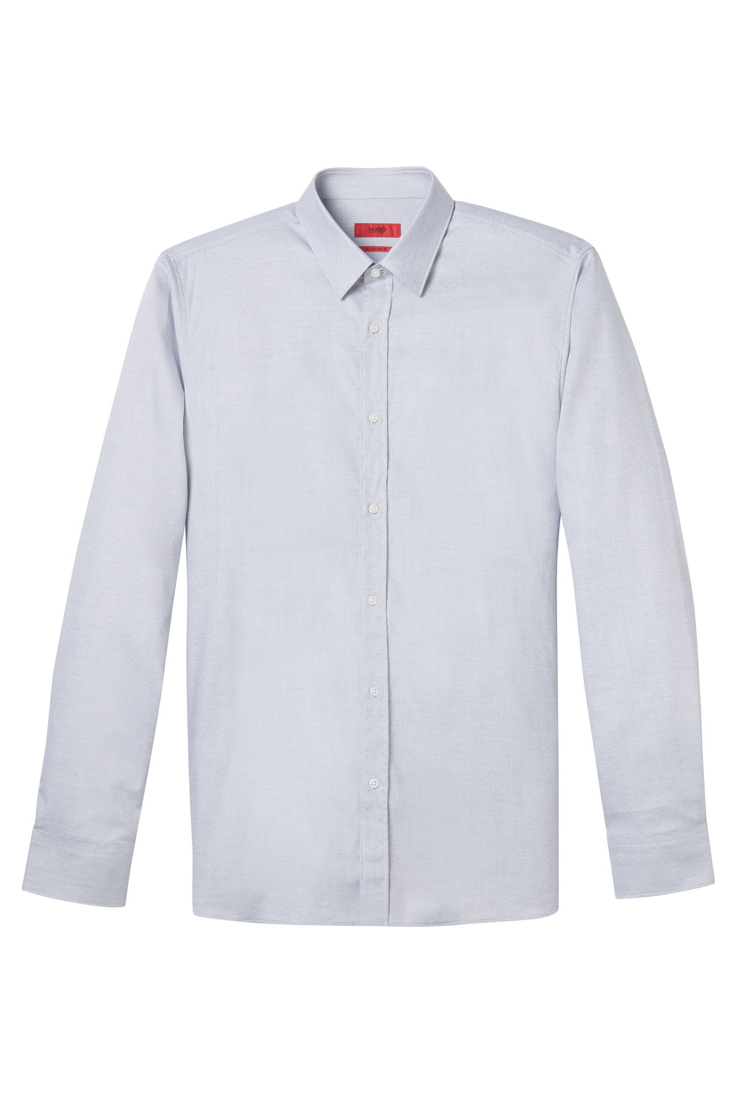 Herringbone Cotton Dress Shirt, Extra Slim Fit | Elisha