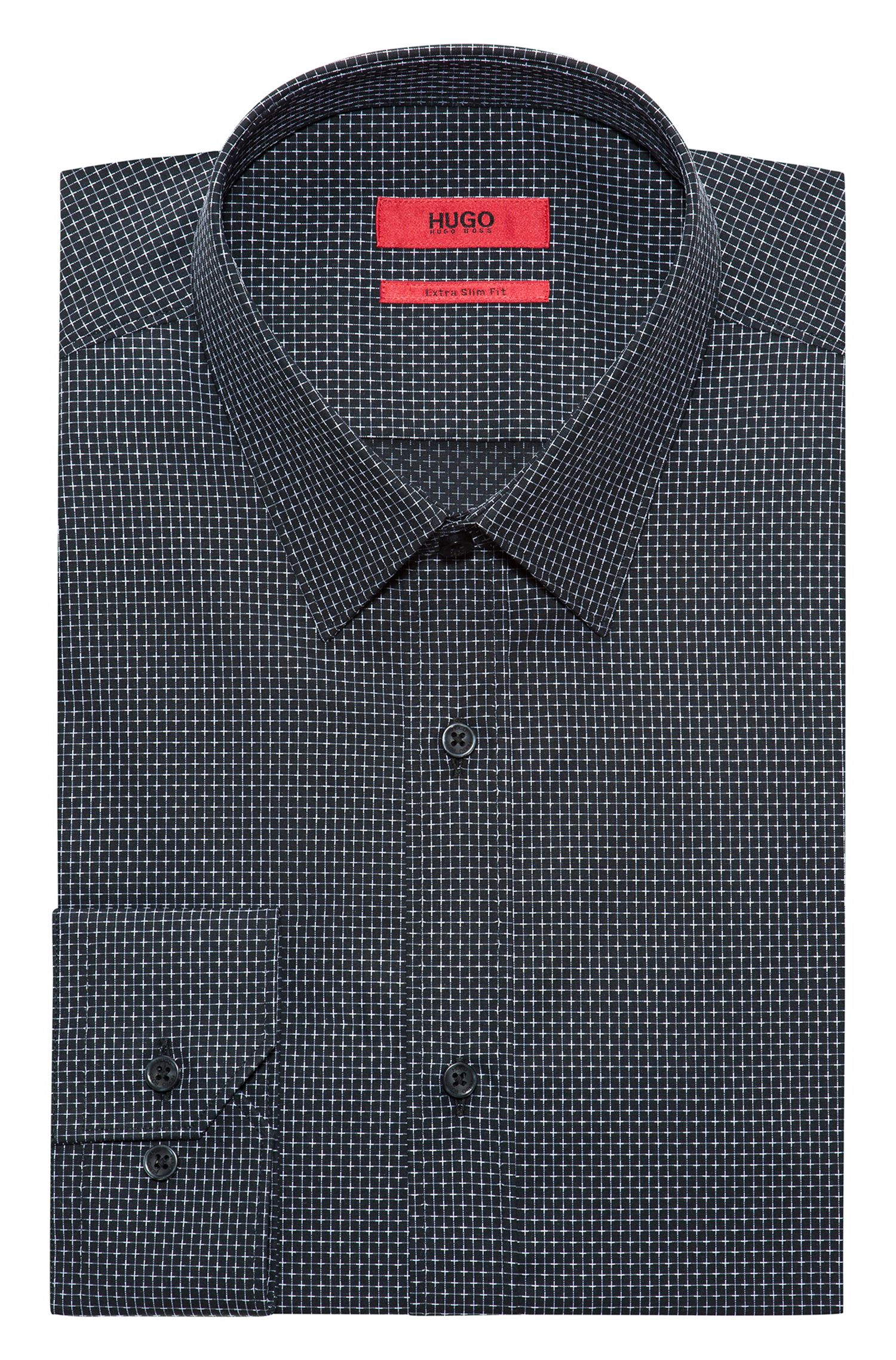 Patterned Cotton Dress Shirt, Extra Slim Fit | Elisha