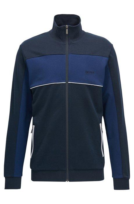 1a6287ed Cotton Blend Track Jacket | Tracksuit Jacket , Dark Blue