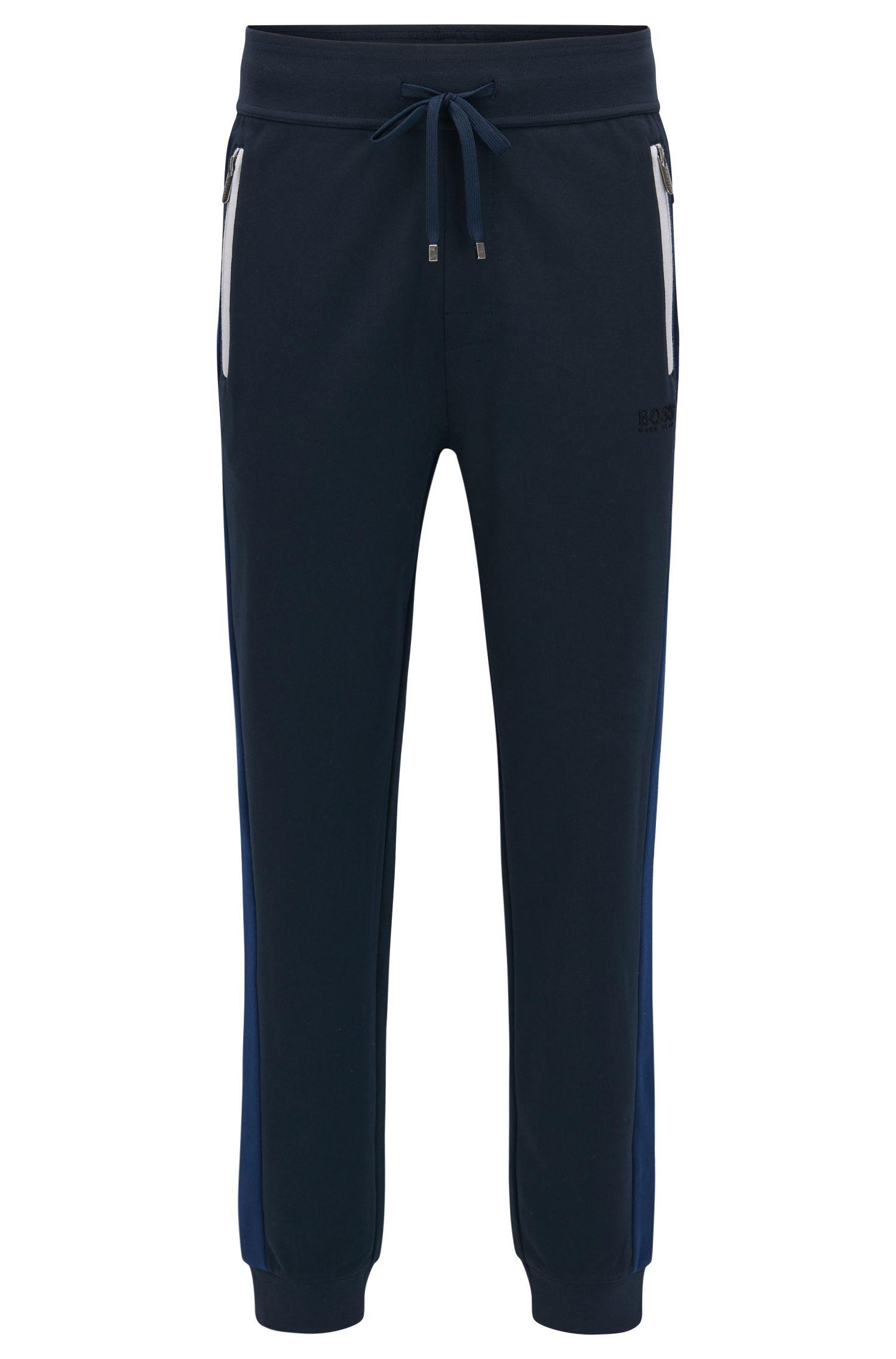 Cotton Blend Track Pant | Tracksuit Pants, Dark Blue