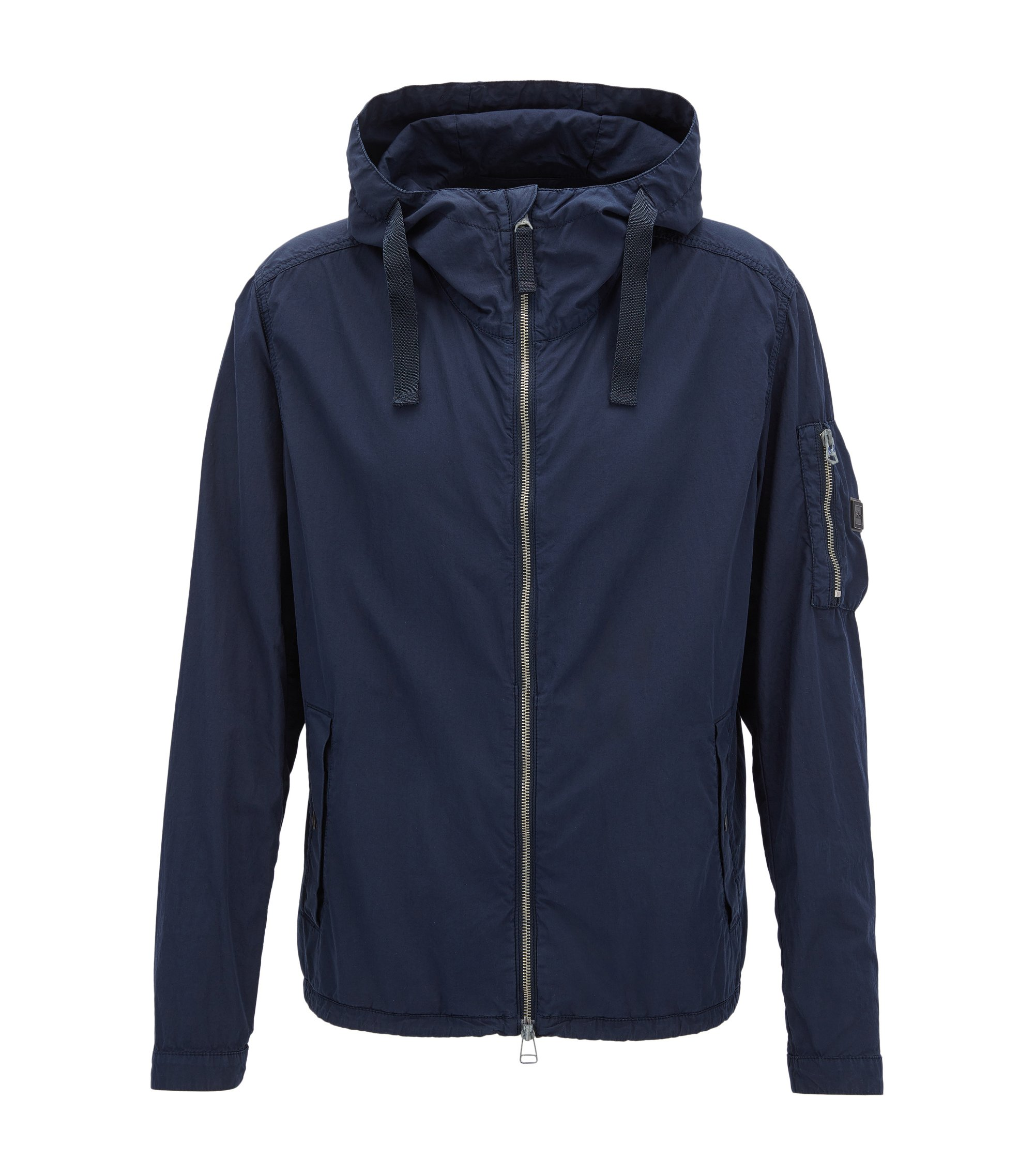 Brushed Cotton Jacket | Olvaro D, Dark Blue