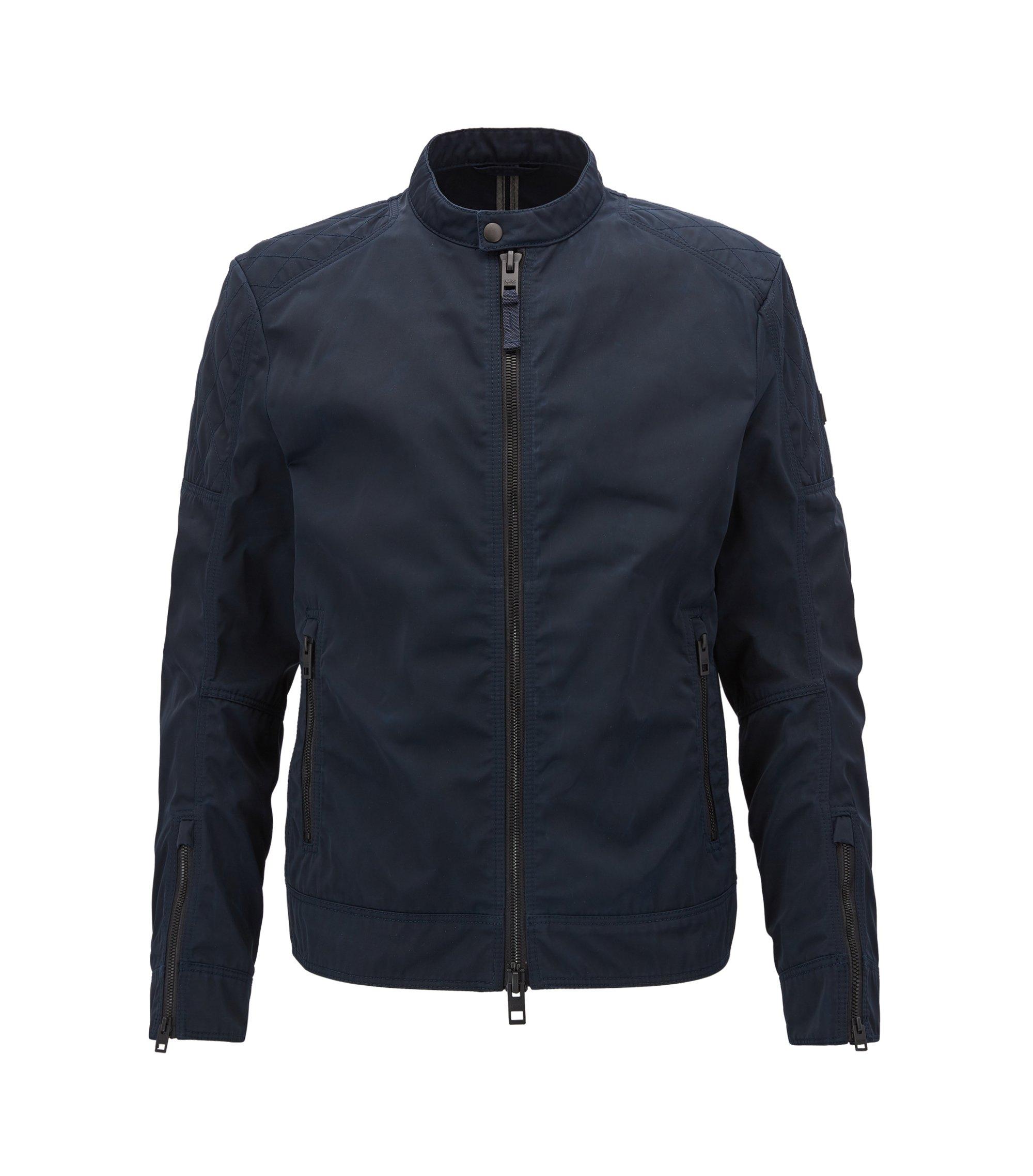 Waxed Twill Jacket | Ojeeno W, Dark Blue