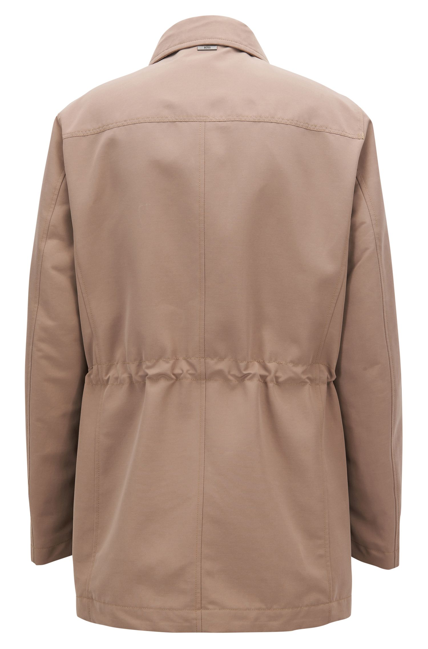Classic Water Repellent Car Coat | 'Cider', Beige