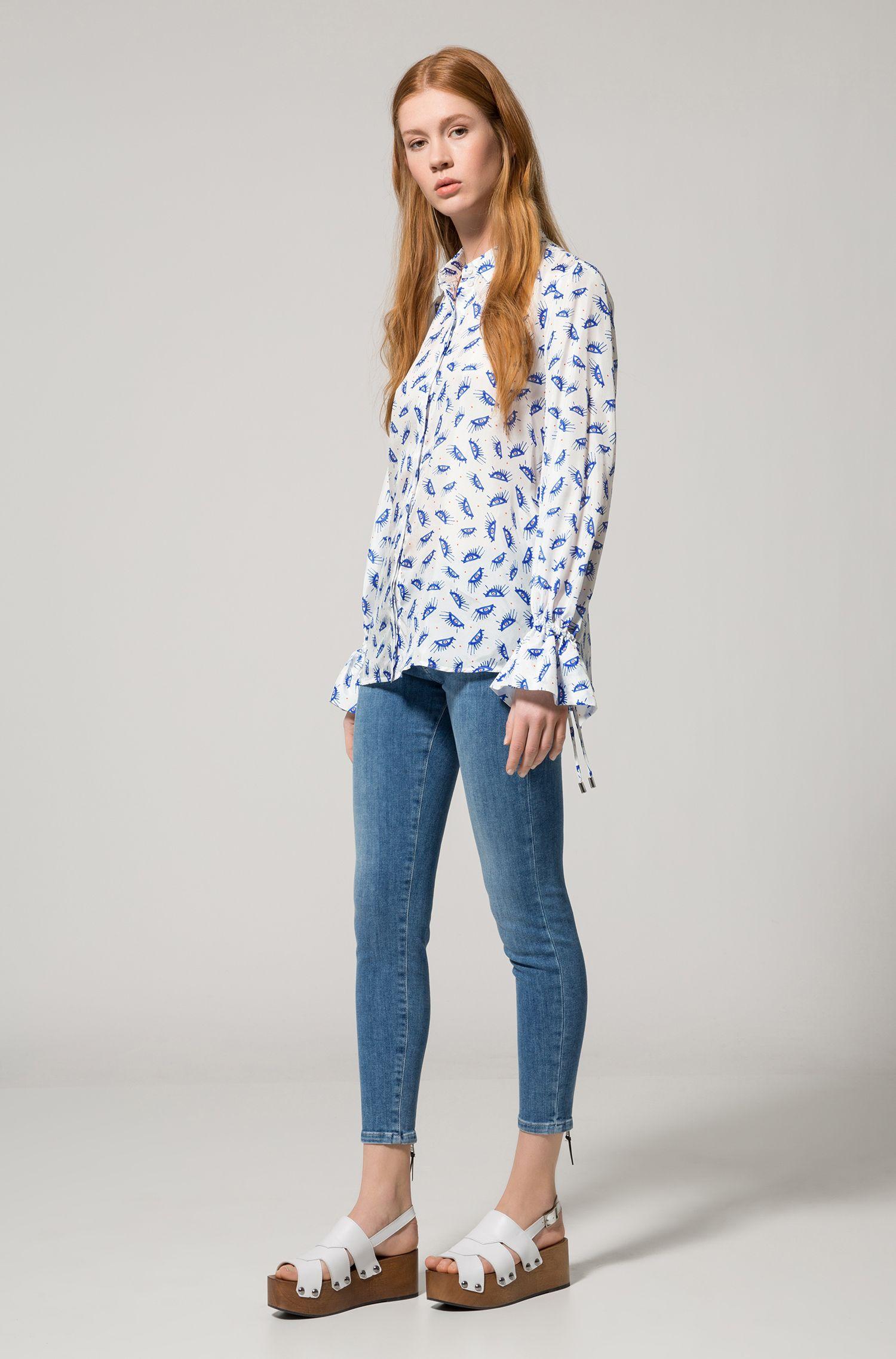 Stretch Cotton Jean, Skinny Fit | Gilljana, Light Blue