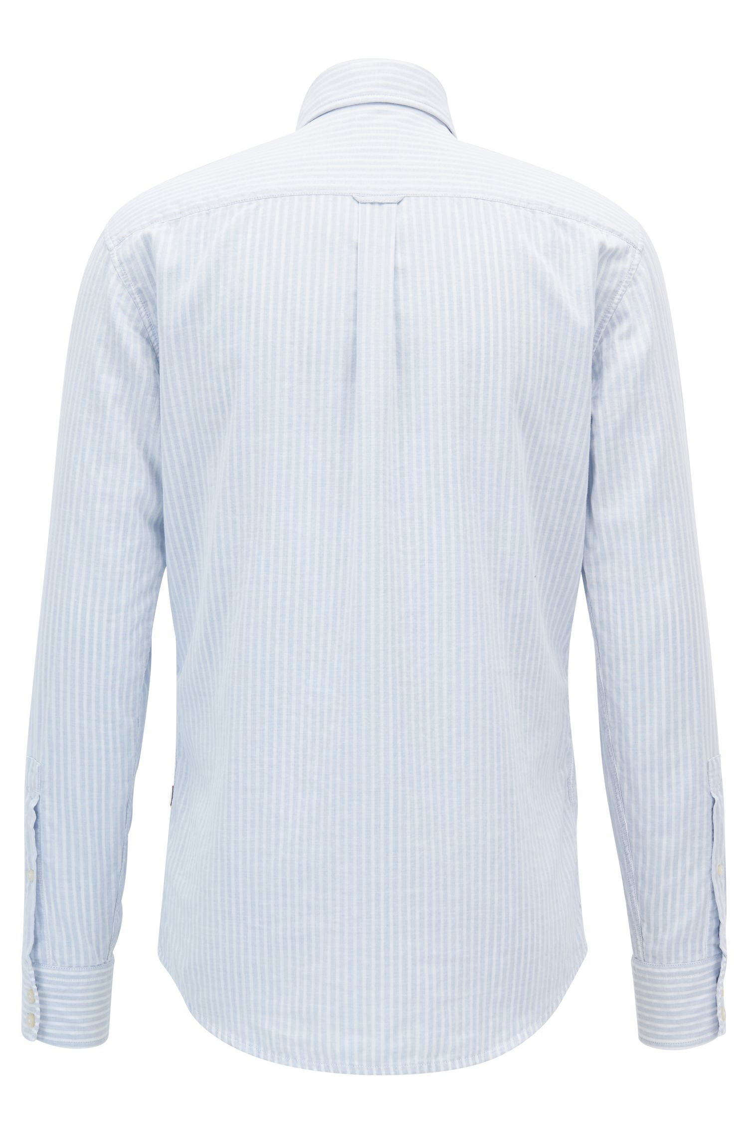 Cotton Sport Shirt, Slim Fit | Epreppy, Blue