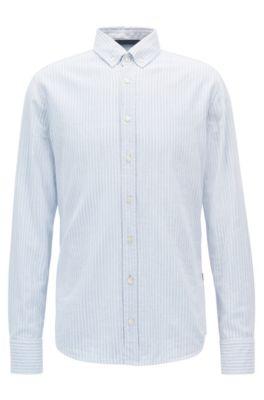 Cotton Sport Shirt, Slim Fit | Epreppy, Blue