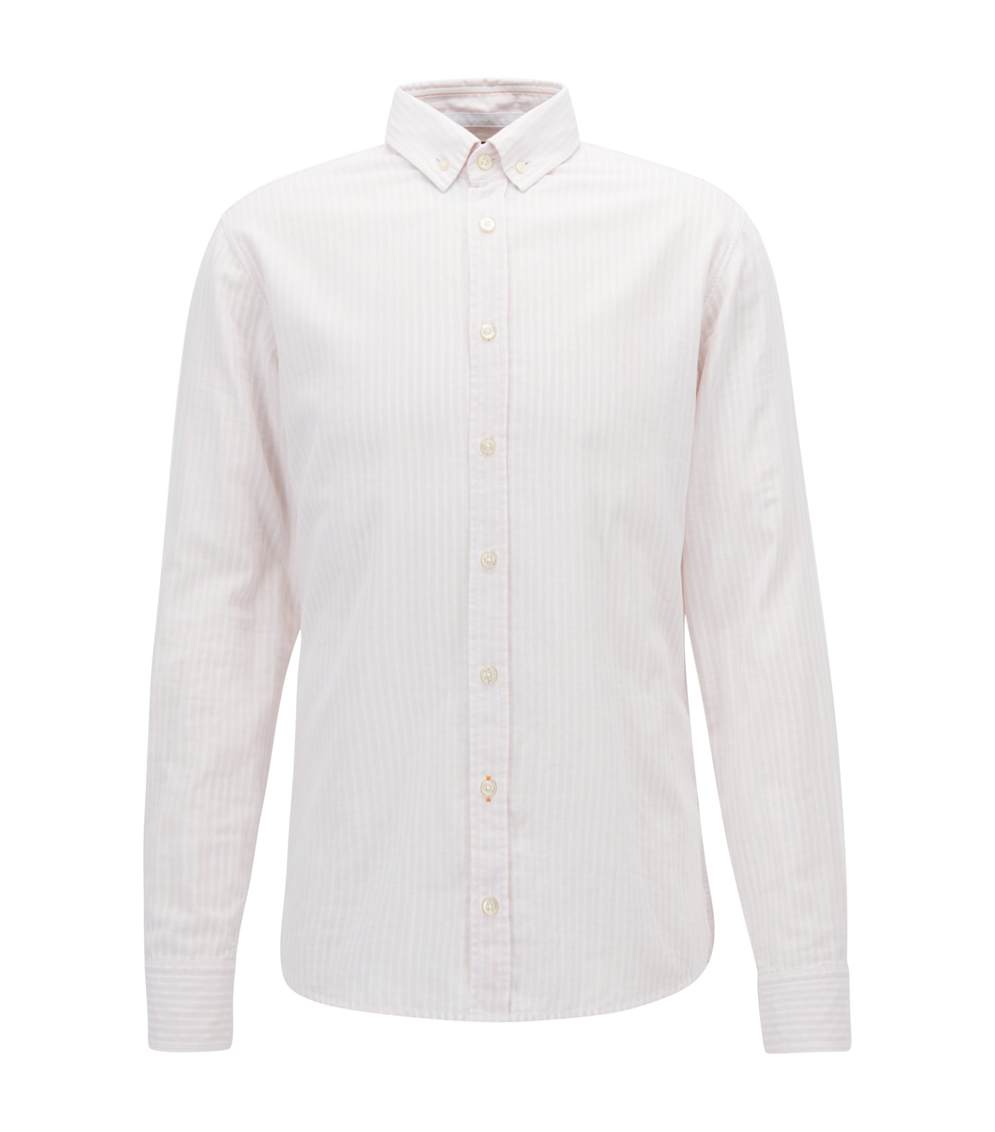 Cotton Sport Shirt, Slim Fit | Epreppy, light pink