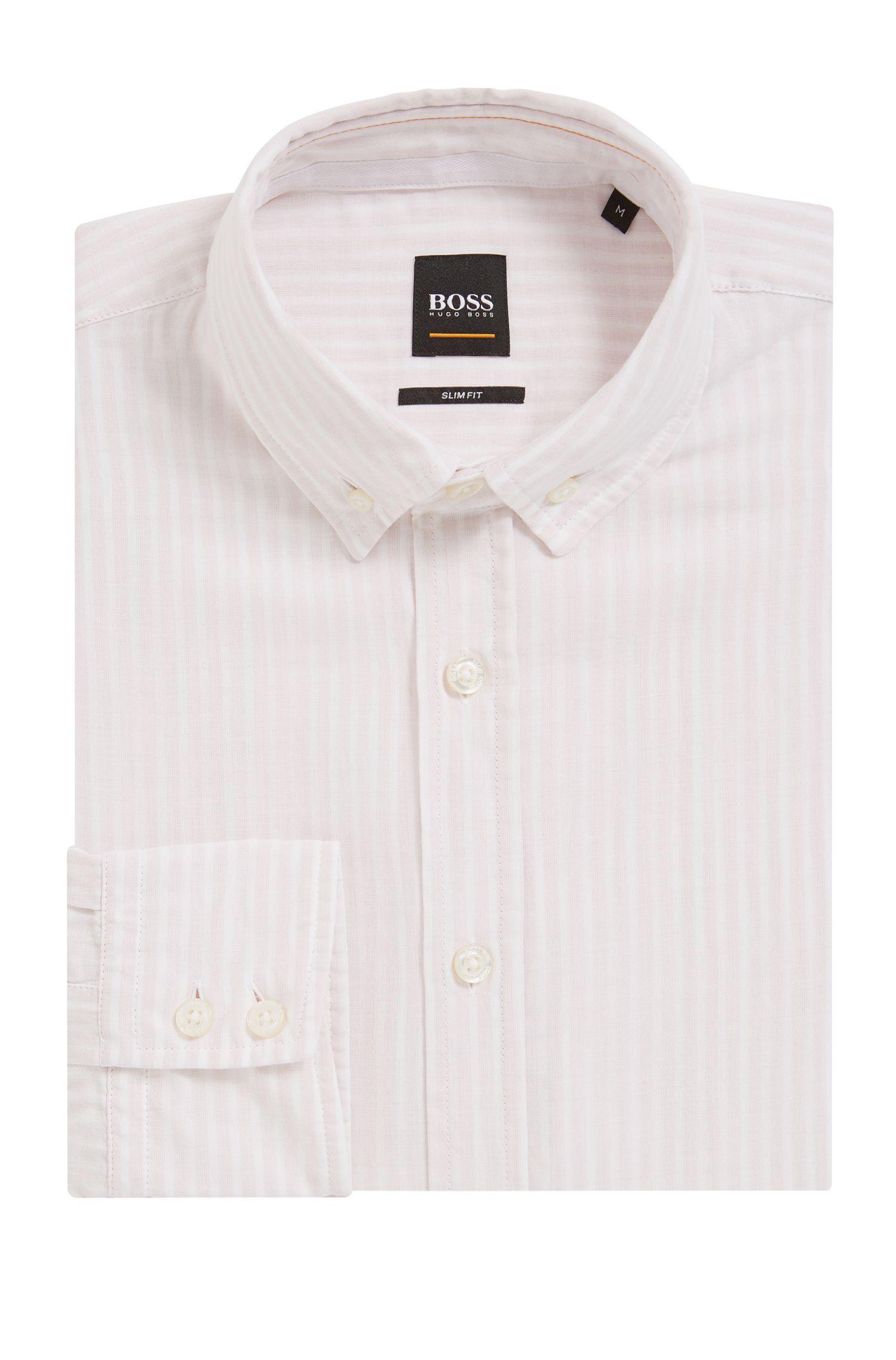 Cotton Sport Shirt, Slim Fit | Epreppy, light pink