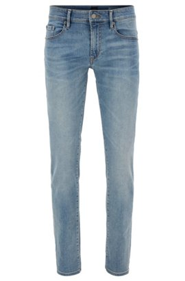 Slim-fit jeans in brushed-satin stretch denim BOSS IHMDFiscV